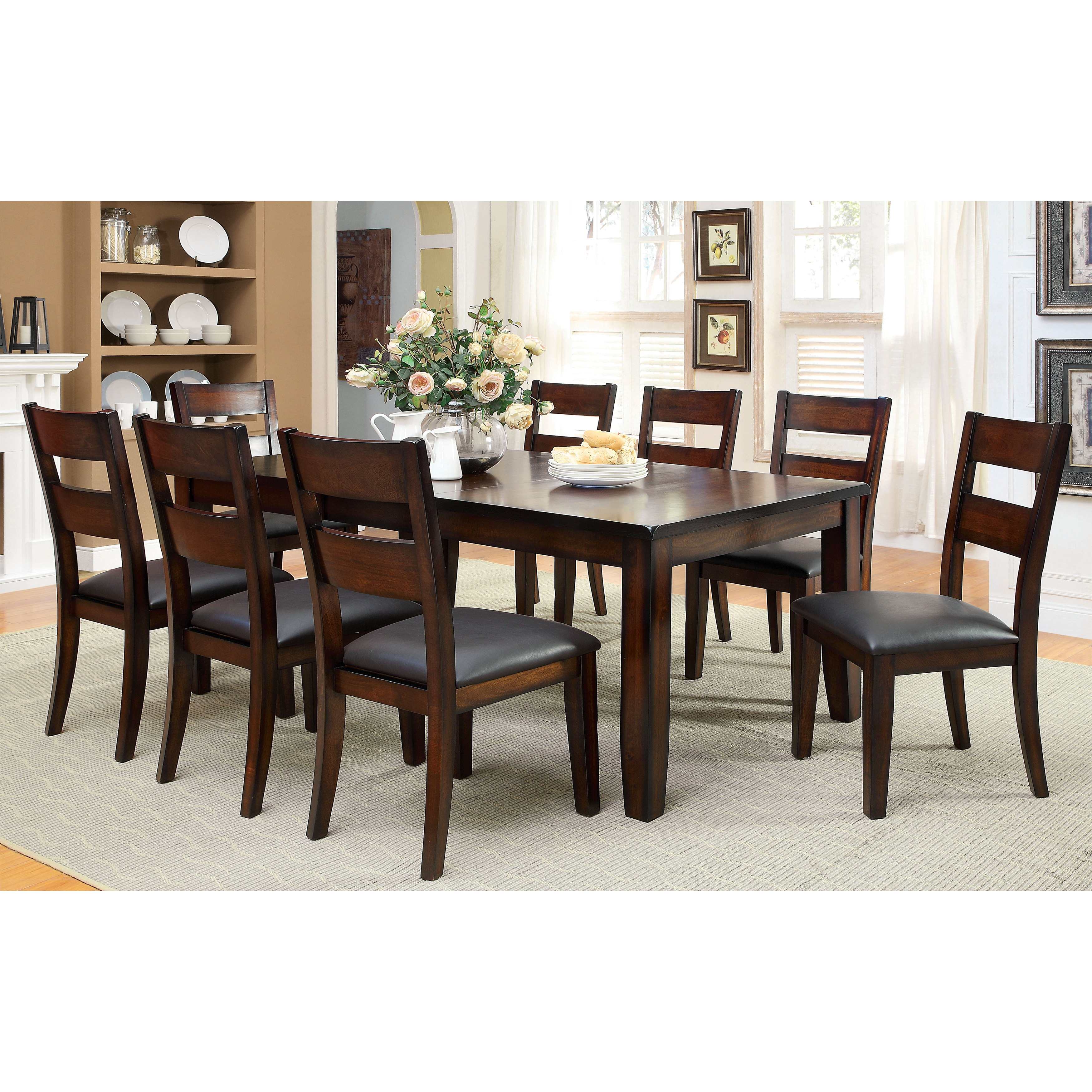 Shop Furniture Of America Katrine Dark Cherry Dining Table   On Sale   Free  Shipping Today   Overstock.com   9828280
