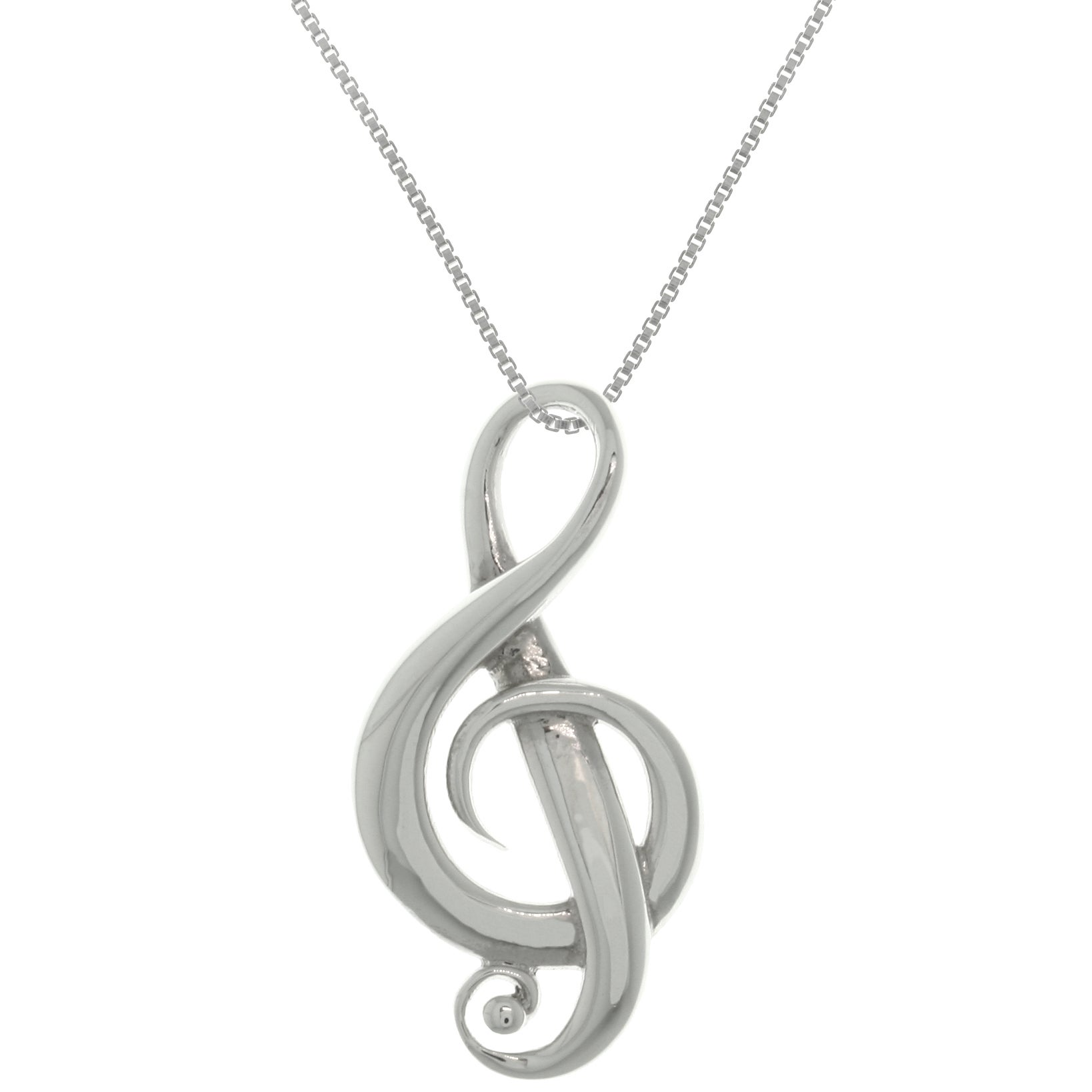 crystal music with long note pendant pandant products sterling chain necklace silver