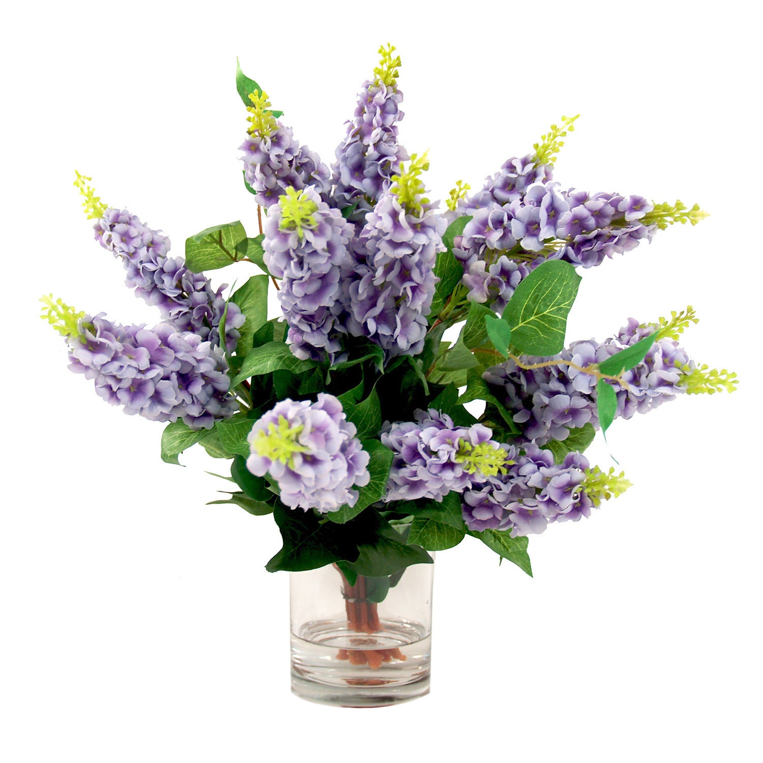 Shop Creative Displays Lavender Lilac Silk Flowers In Acrylic Water