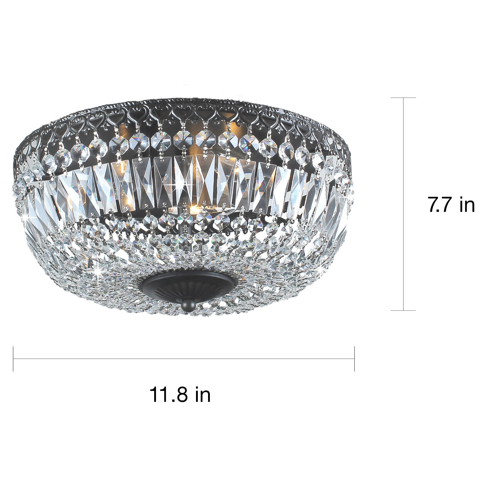 Silver orchid taylor 12 inch antique black crystal flush mount silver orchid taylor 12 inch antique black crystal flush mount chandelier free shipping today overstock 16997218 arubaitofo Image collections