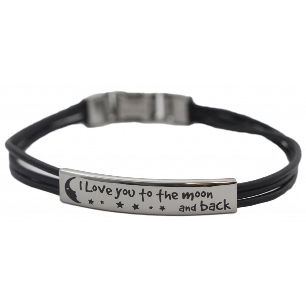 Leather I Love You To The Moon And Back Bracelet On Free Shipping Orders Over 45 9833832