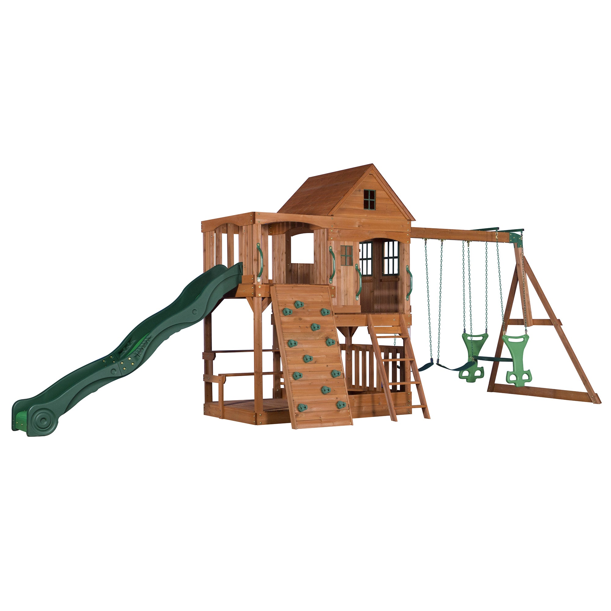 Backyard Discovery Pacific View All Cedar Swingset   Free Shipping Today    Overstock.com   16997770