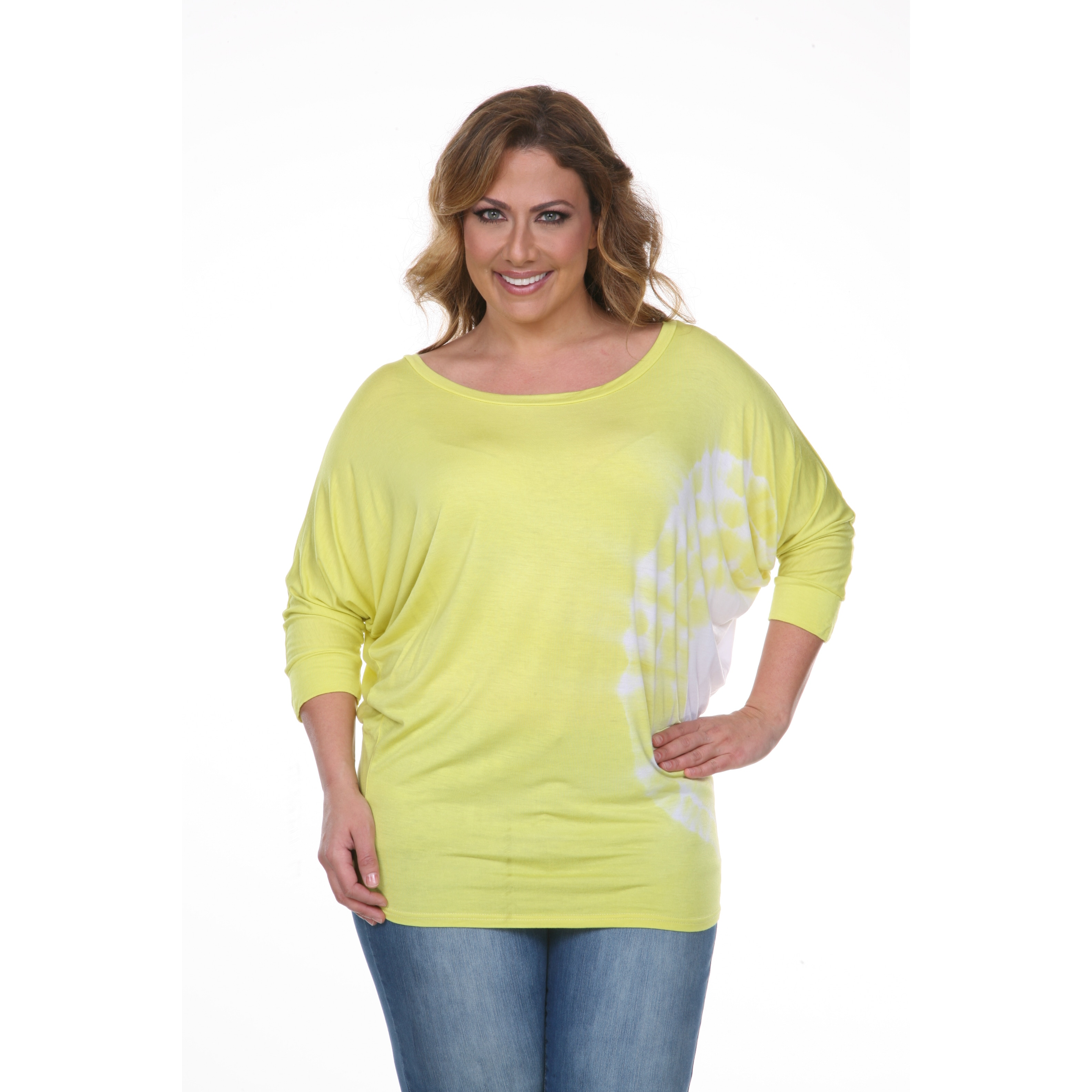 White Mark Women's Plus-size Tie Dye Tunic Top - Free Shipping On Orders  Over $45 - Overstock.com - 17066861