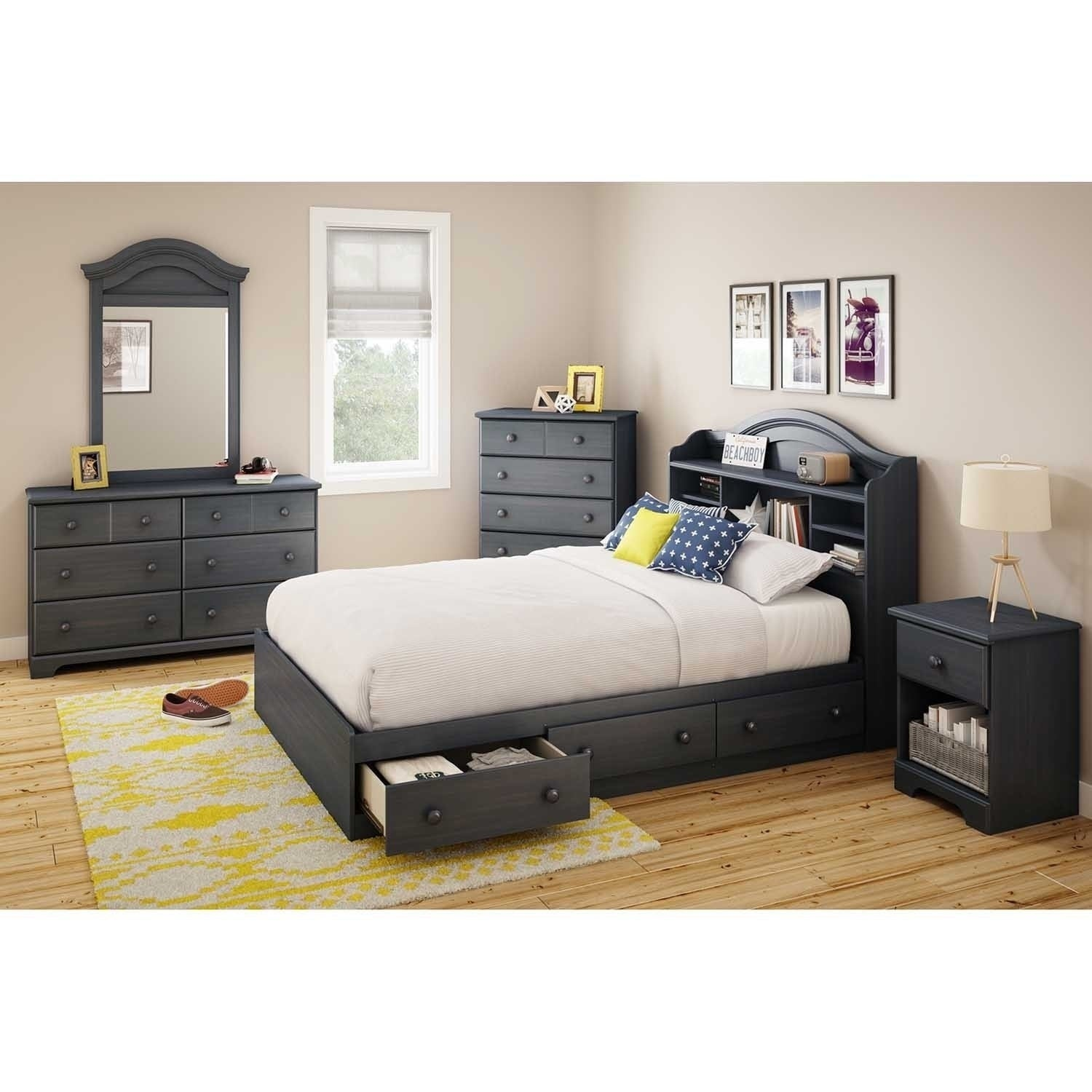 kp platform with drawer bed drawers shore full queen c gramercy beds south