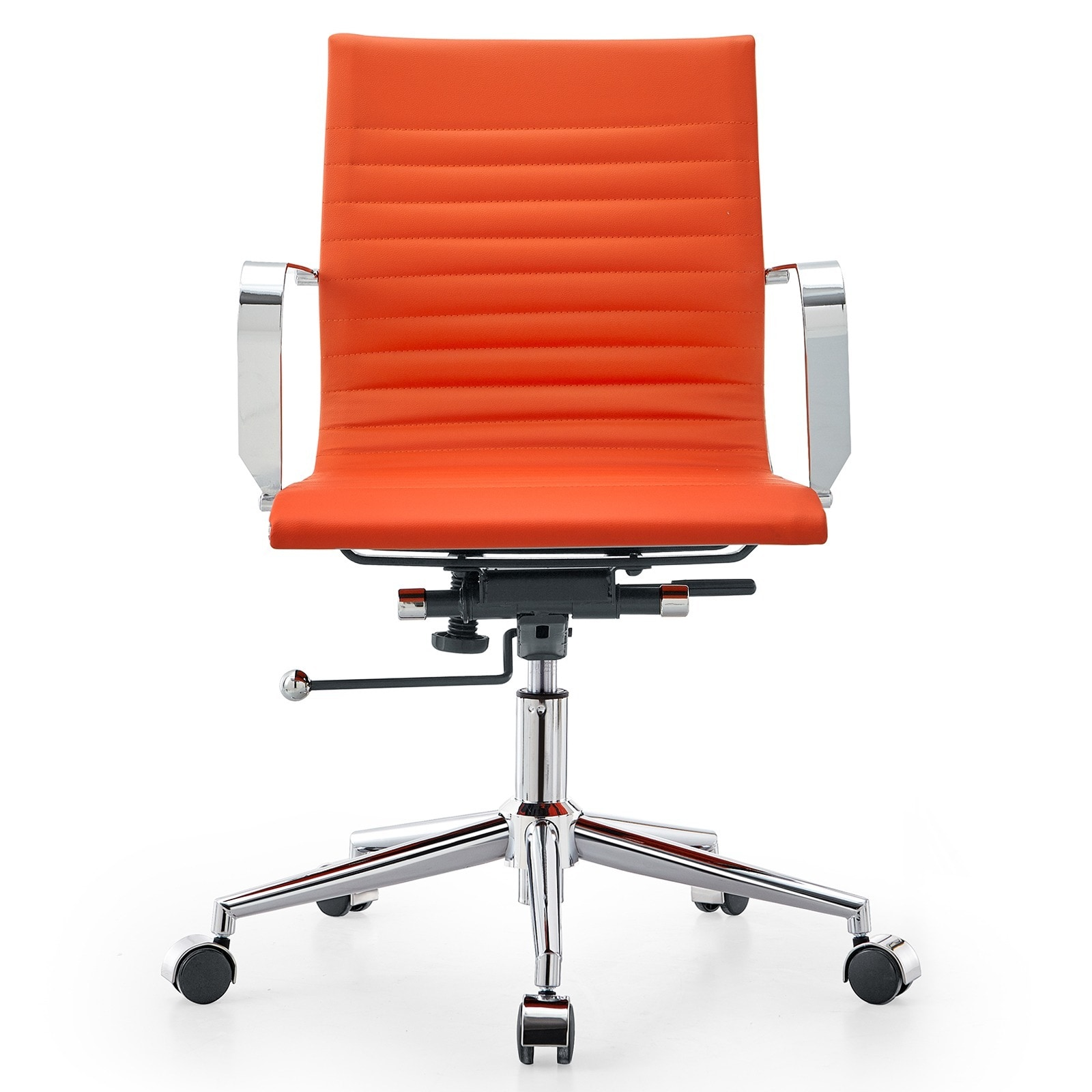 Shop M33 Meelano Modern Orange Vegan Leather Office Chair   Free Shipping  Today   Overstock.com   9909084