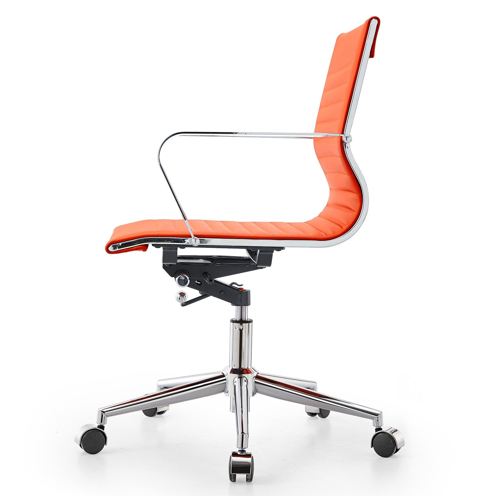 Shop M344 Meelano Modern Orange Vegan Leather Office Chair   Free Shipping  Today   Overstock.com   9909084