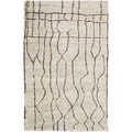 Hand-Knotted Ross Abstract Pattern Hemp Area Rug (5' x 8')