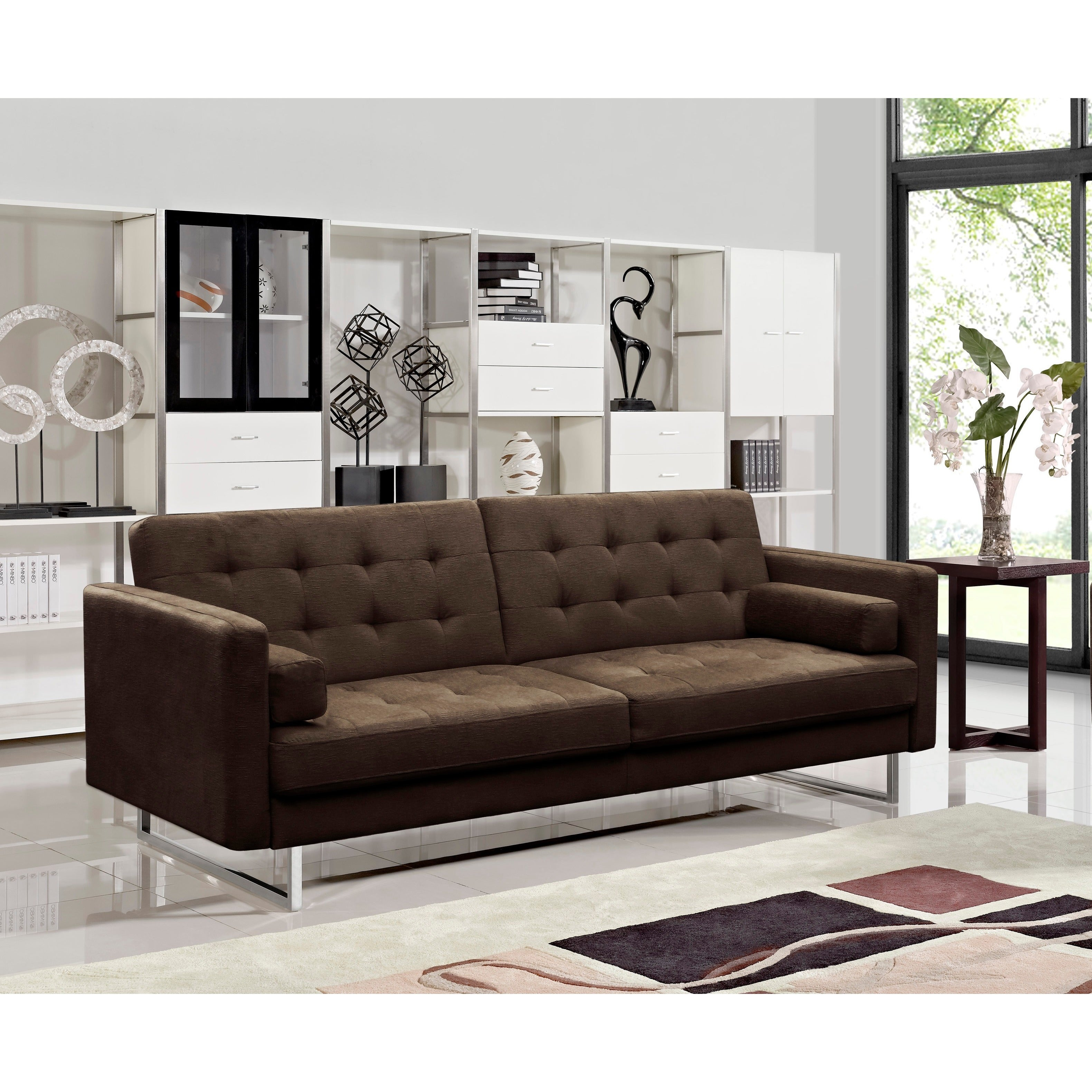 Claire Fabric Modern Sofa Bed On Free Shipping Today 9912921
