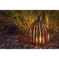 Desert Steel Orange Tall Pumpkin Luminary
