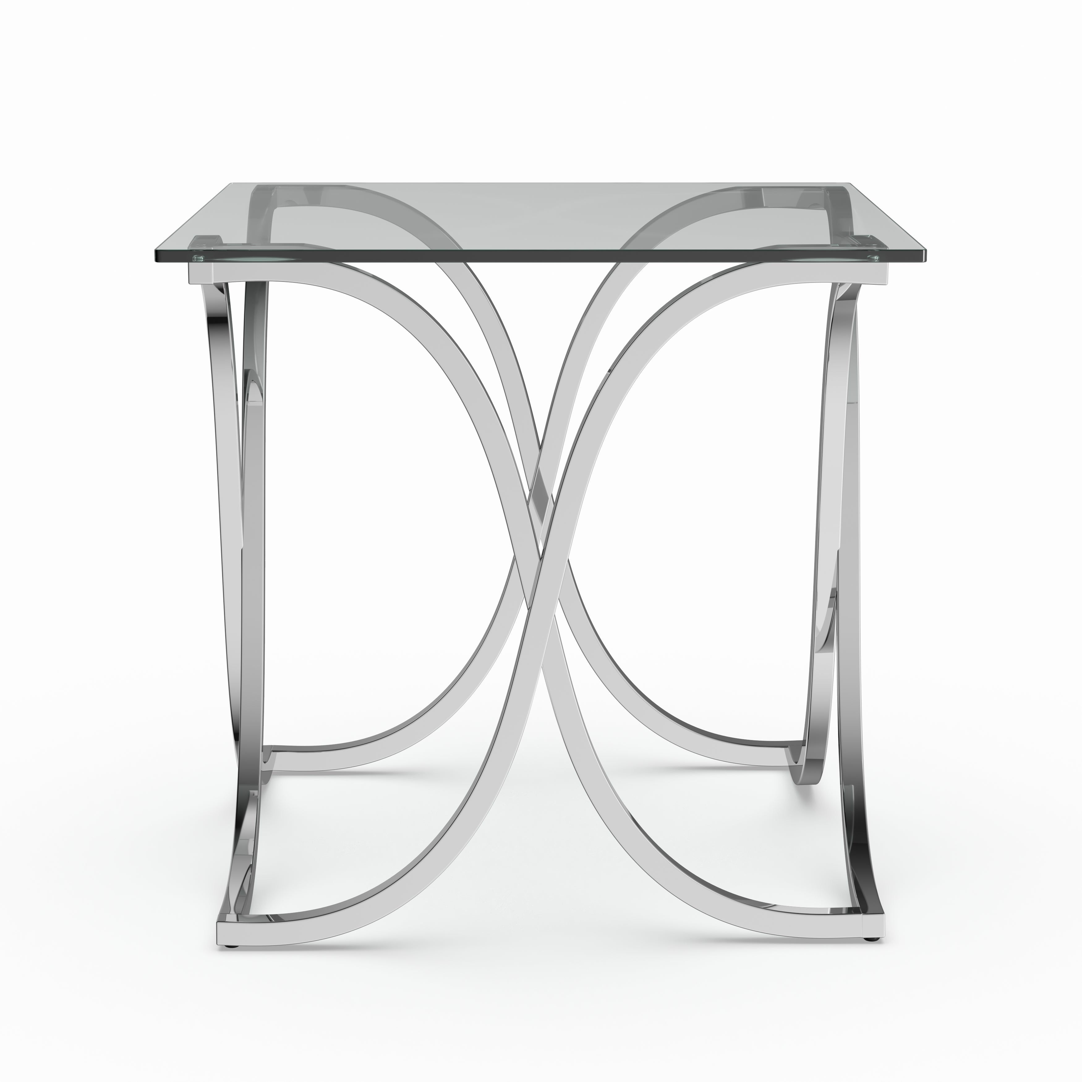 Shop Silver Orchid Brockwell Modern Chrome End Table   Free Shipping Today    Overstock.com   9913975