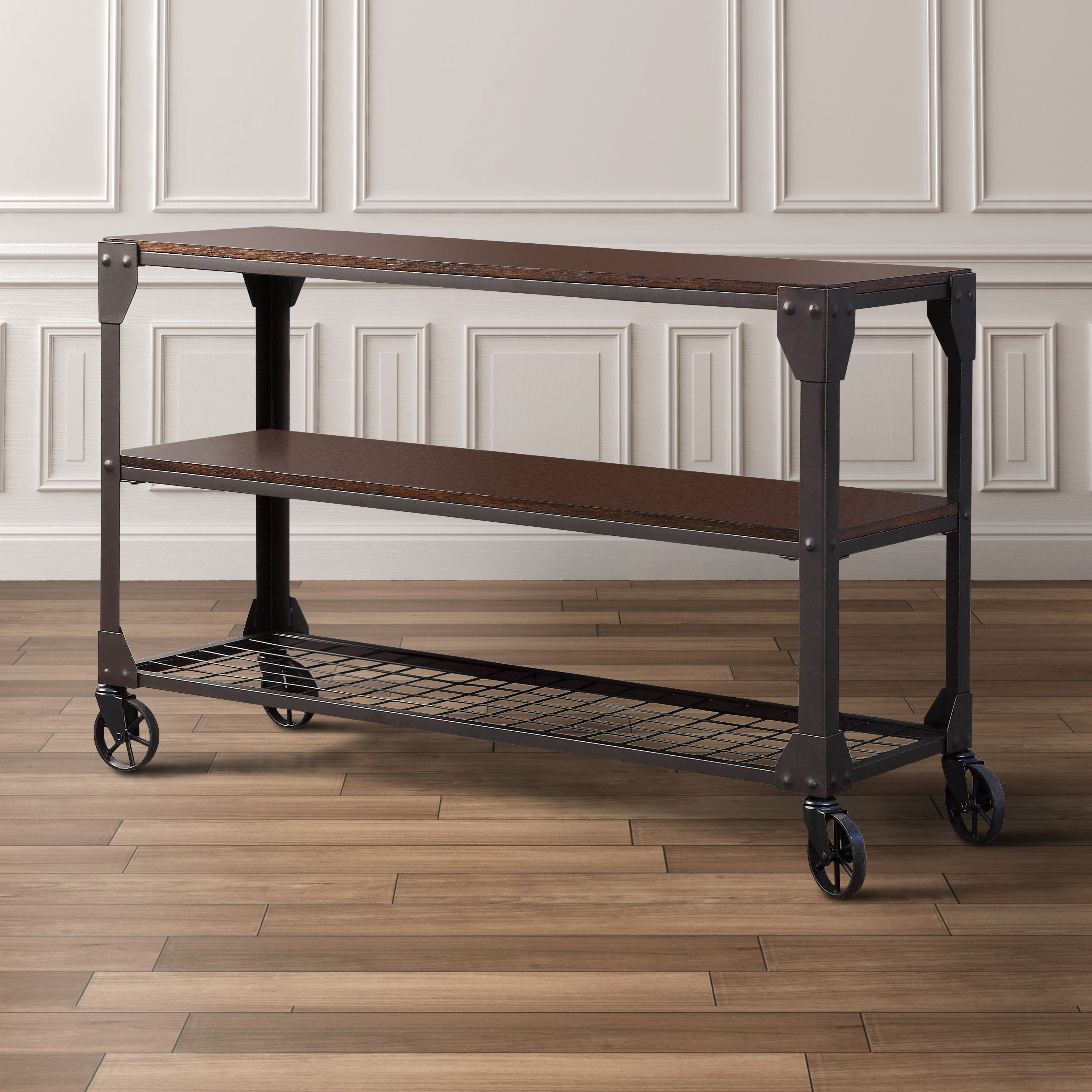 Lovely Furniture Of America Karina Industrial Style Sofa Table   Free Shipping  Today   Overstock.com   17071954