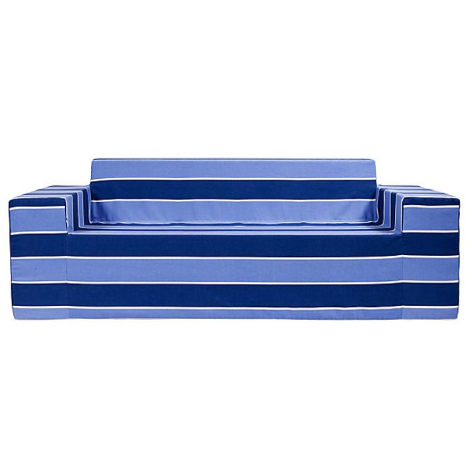 Shop Softblock BlueBerry Blue Striped Sofa - Free Shipping Today ...