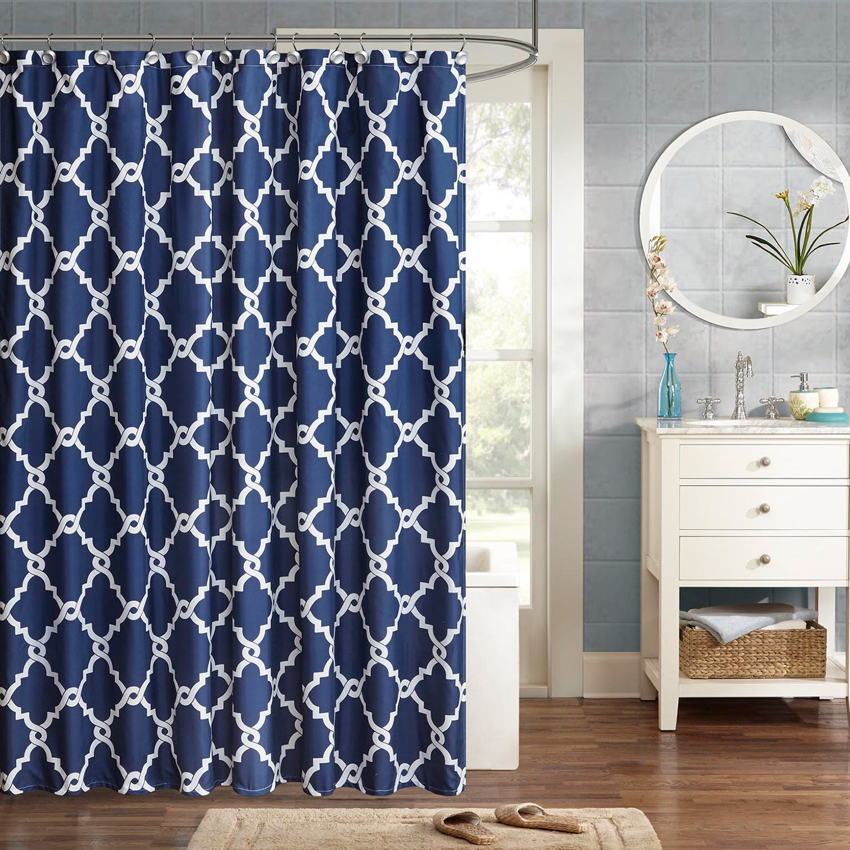 Clay Alder Home Niantic Blue Chevron Shower Curtain - Free Shipping ...