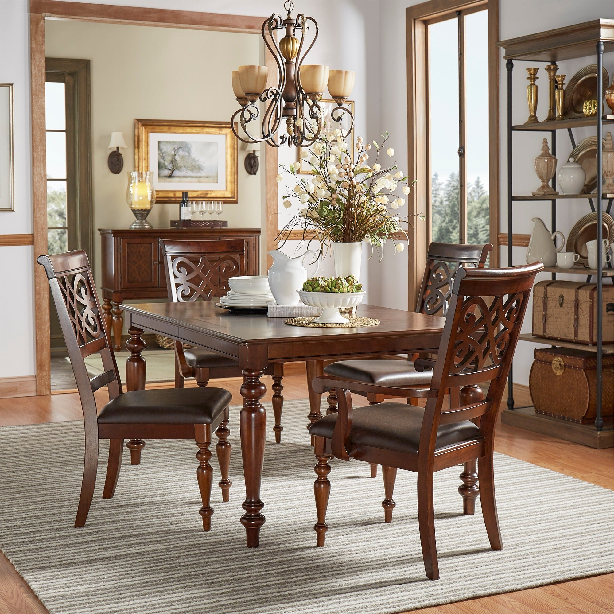Shop Emma Catherine Cherry Extending Dining Set by iNSPIRE Q Classic ...