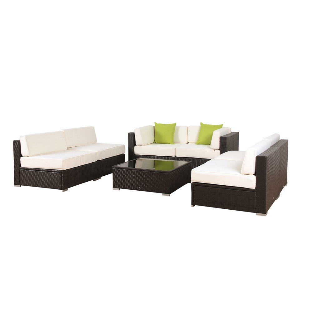 Broyerk 7 Piece Outdoor Rattan Patio Furniture Set Free Shipping Today 9917897