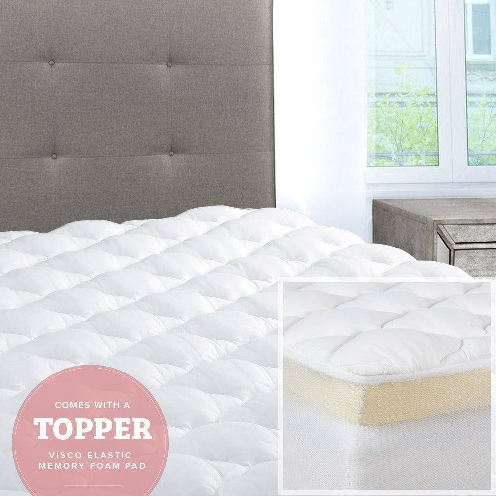 thick mattress topper. 2-Piece Extra Plush Double Thick Mattress Pad - Free Shipping Today Overstock.com 17075505 Topper P