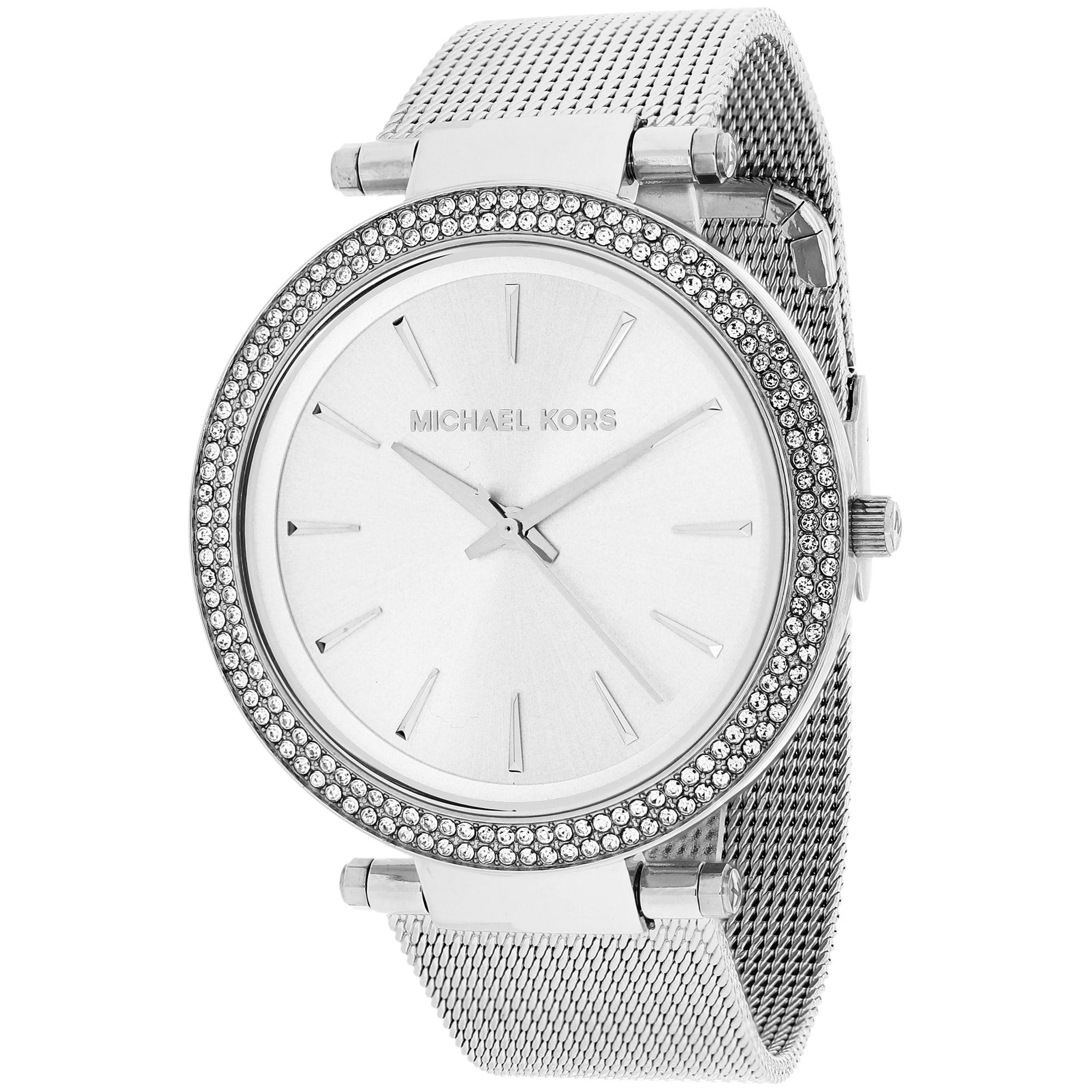 472a755d78a9 Shop Michael Kors Women s MK3367 Darci Round Silver Bracelet Watch - Free  Shipping Today - Overstock - 9920721