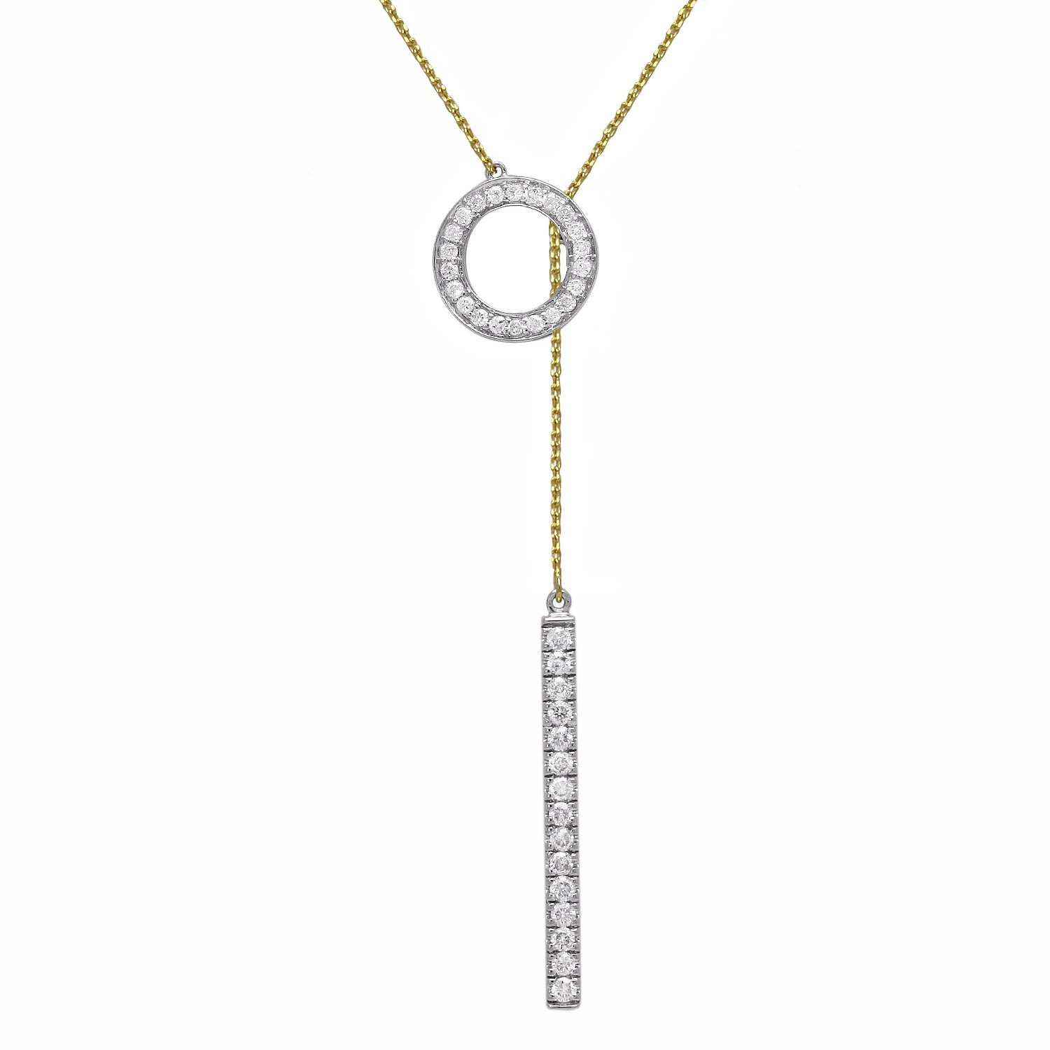d4a0c009ccb742 Shop 10k Gold 1/3ct TDW 'Together Forever' Diamond Lariat Necklace ...