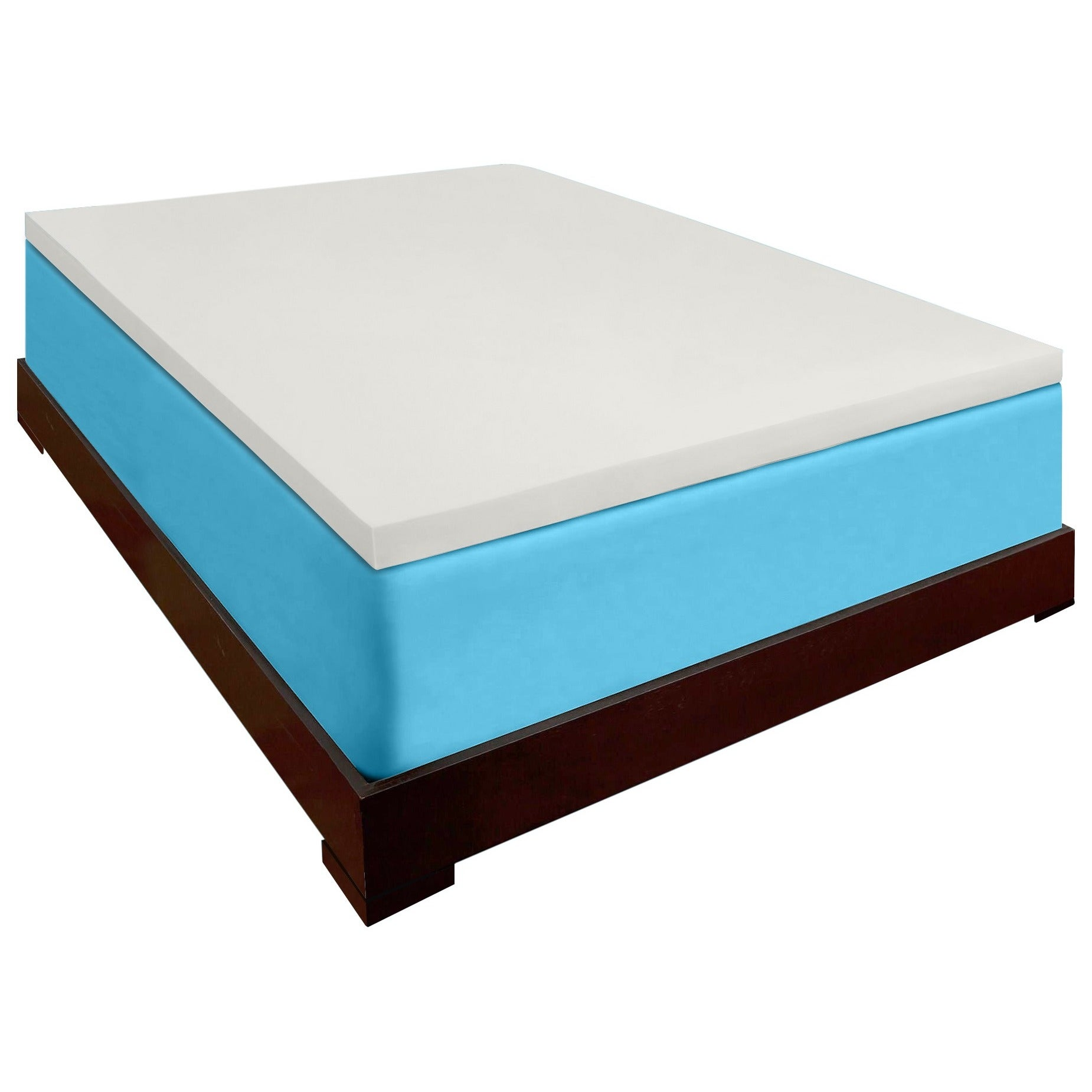 Memory Foam Mattress Topper.Dreamdna 2 Inch 4 Pound Density Memory Foam Mattress Topper