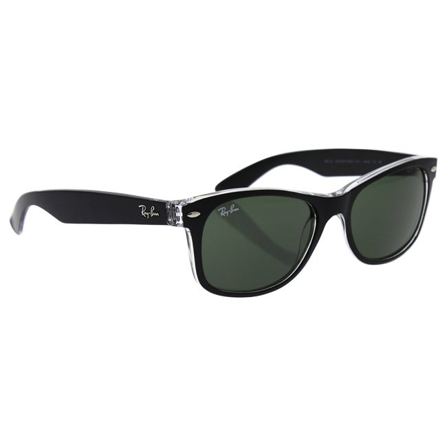 19056a650 Shop Ray-Ban RB2132 New Wayfarer Color Mix Sunglasses Transparent Black/  Green Classic 55mm - Black - Free Shipping Today - Overstock - 9922384