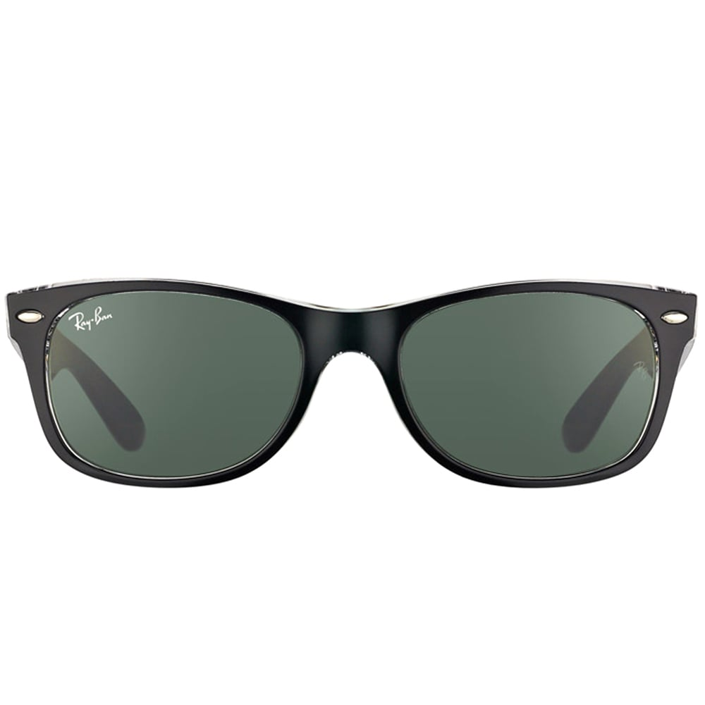 532397b05e0 Shop Ray-Ban RB2132 New Wayfarer Color Mix Sunglasses Transparent Black   Green Classic 55mm - Black - Free Shipping Today - Overstock - 9922384