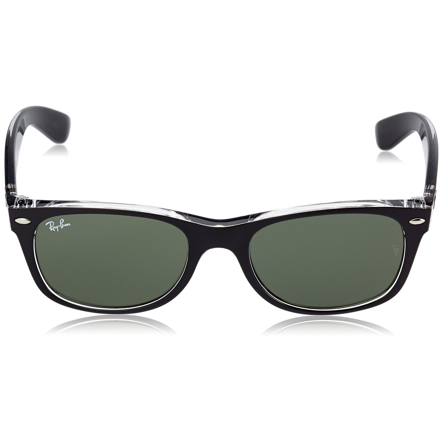 9a3f177577 Shop Ray-Ban RB2132 New Wayfarer Color Mix Sunglasses Transparent Black   Green Classic 55mm - Black - Free Shipping Today - Overstock - 9922384