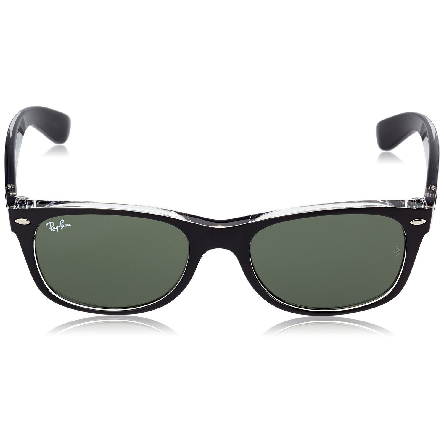 44bb627098 ... coupon code for shop ray ban rb2132 new wayfarer color mix sunglasses  transparent black green classic