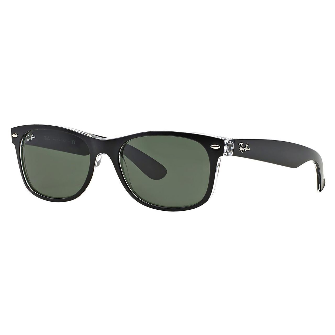 81ac45c9349b Shop Ray-Ban RB2132 New Wayfarer Color Mix Sunglasses Transparent Black   Green Classic 55mm - Black - Free Shipping Today - Overstock - 9922384