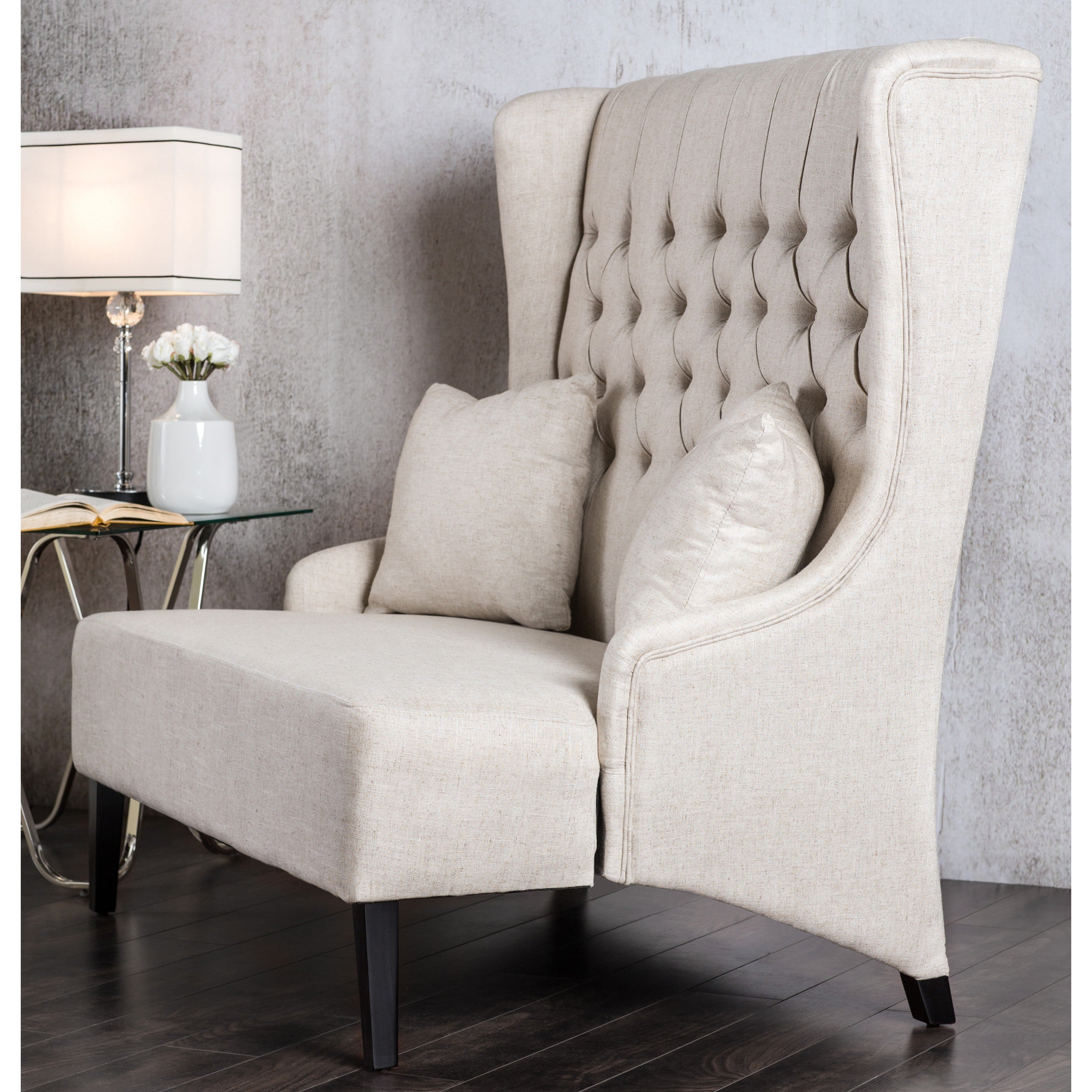 Charmant Shop Furniture Of America Chierre Romantic Tufted Wingback Loveseat Bench    On Sale   Free Shipping Today   Overstock.com   9922956