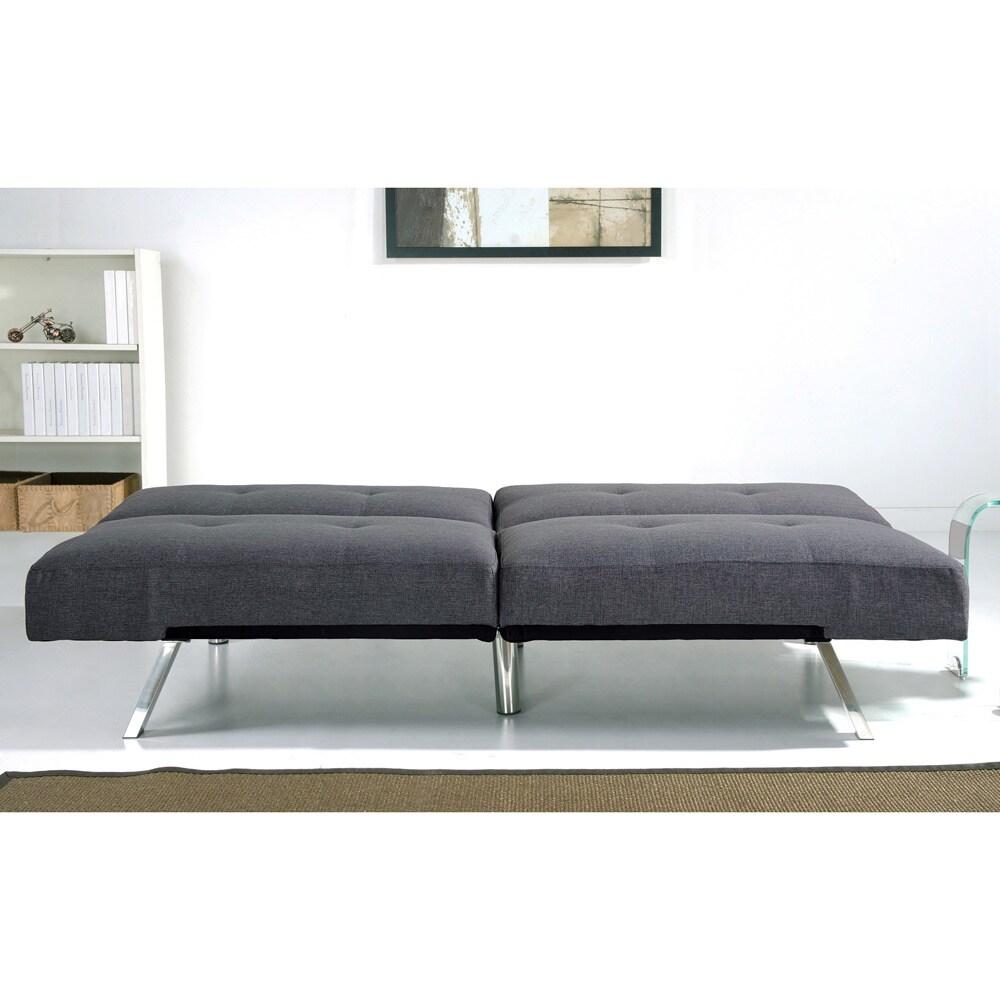 Abbyson Aspen Grey Fabric Foldable Futon Sleeper Sofa Bed Free Shipping Today Com 17080211