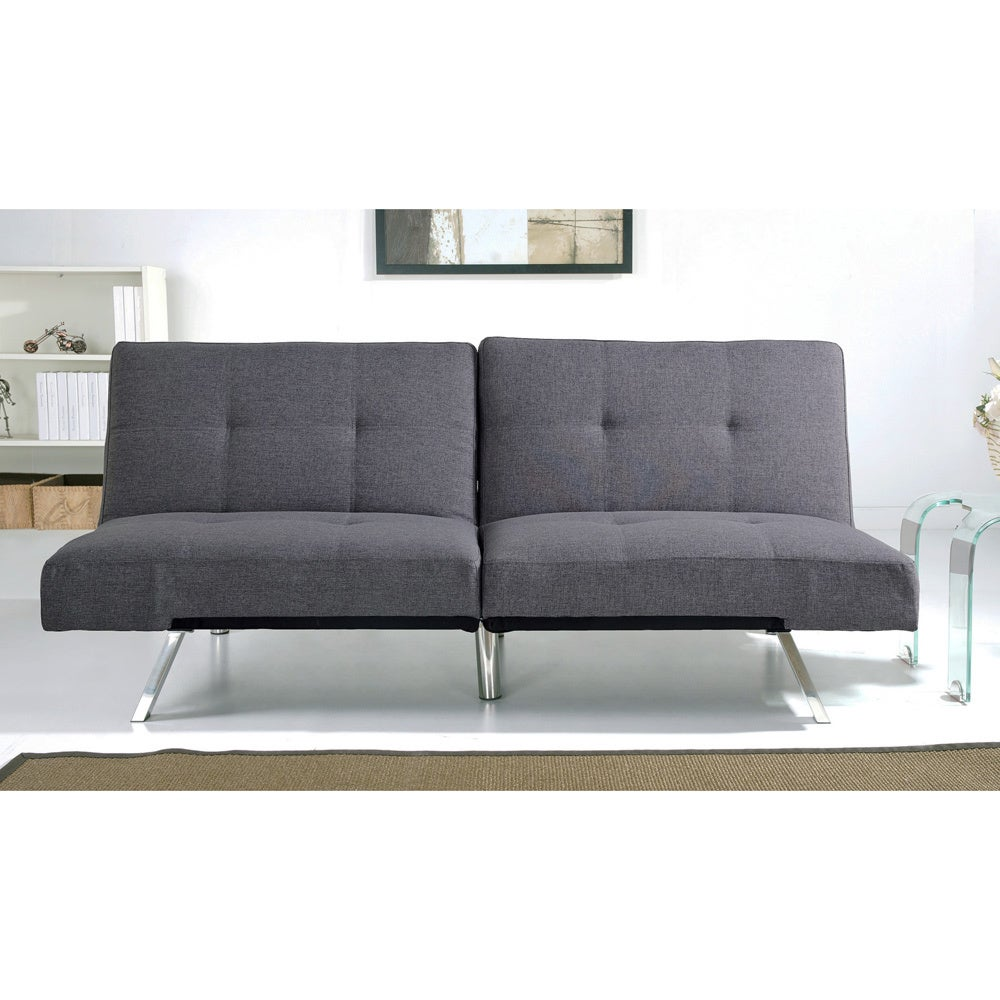 Abbyson Aspen Grey Fabric Foldable Futon Sleeper Sofa Bed Free Shipping Today Com 17080211