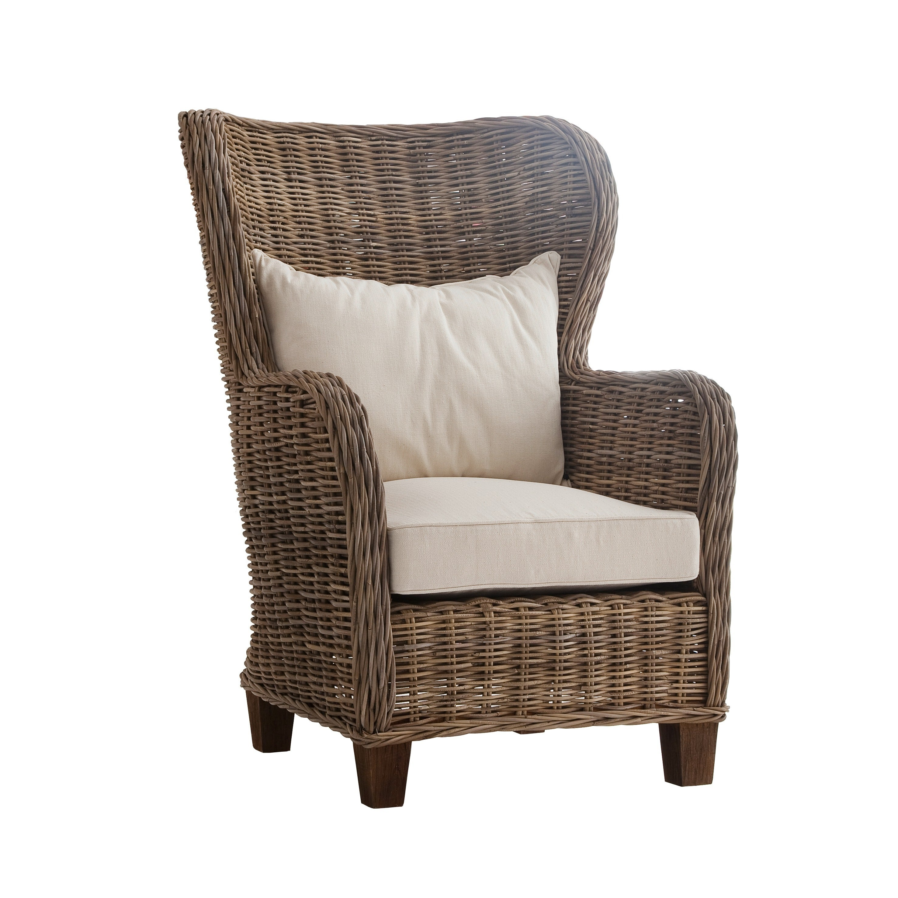 Havenside Home North Bend Wingback Woven Cushioned Chair   Free Shipping  Today   Overstock   17085215