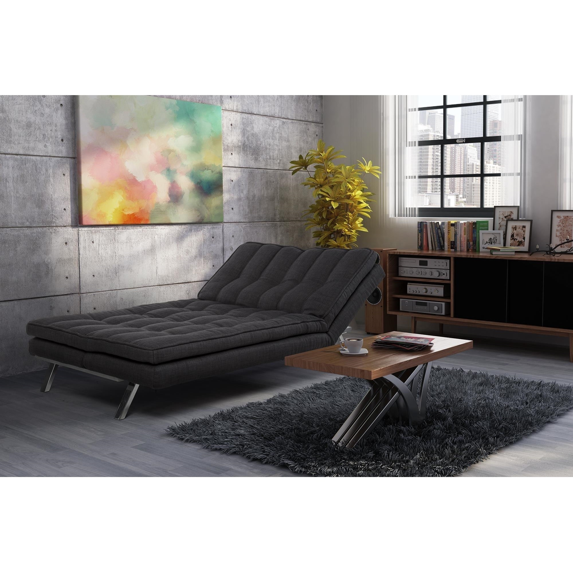 Dhp Madison Premium 3 In 1 Convertible Futon Lounger Free Shipping Today Com 9928883