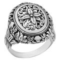 Handmade Sterling Silver Floral Paradise Cawi Ring (Indonesia)
