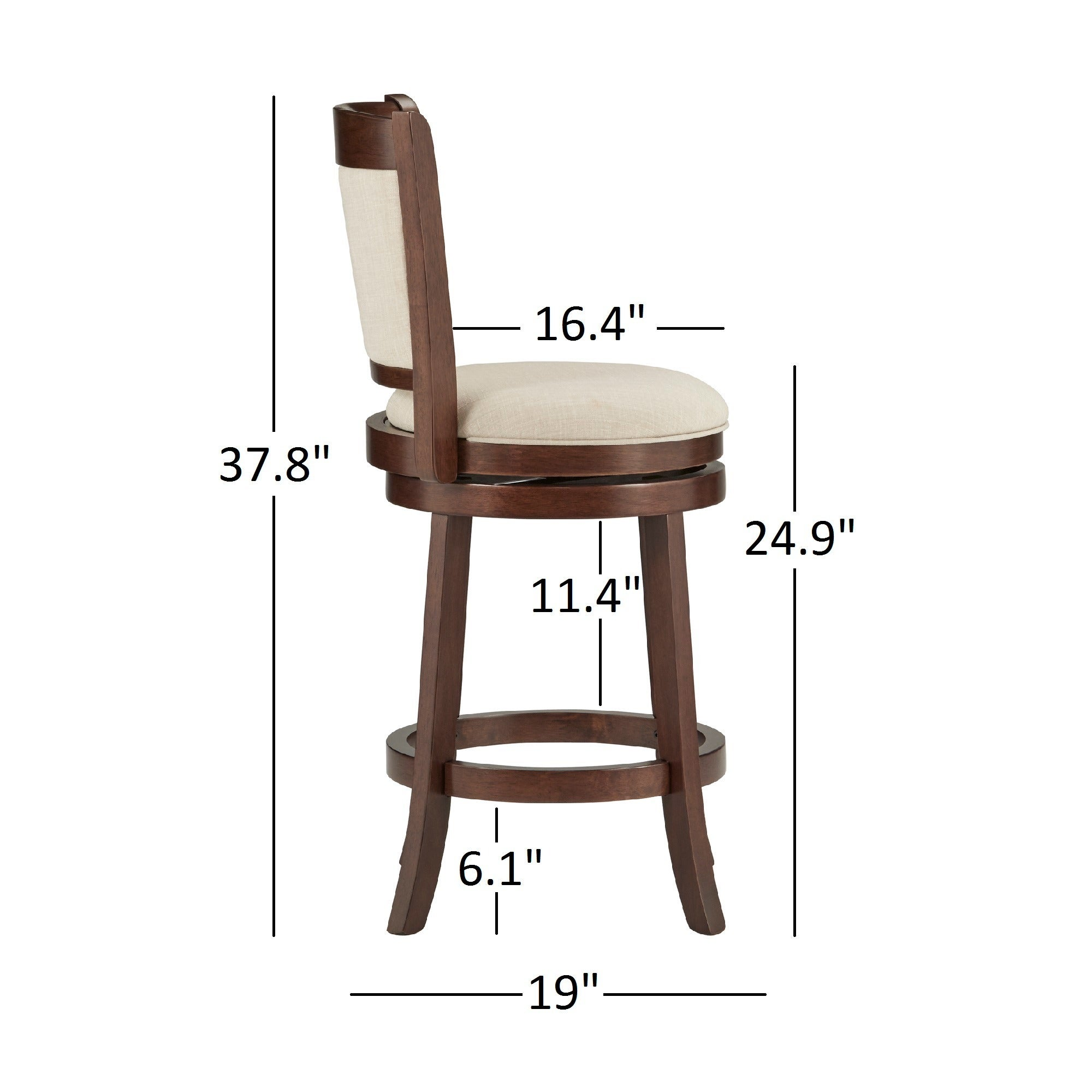 Verona Panel Back Linen Swivel 24 Inch High Back Counter Height Stool By  INSPIRE Q Classic   Free Shipping Today   Overstock   17088104