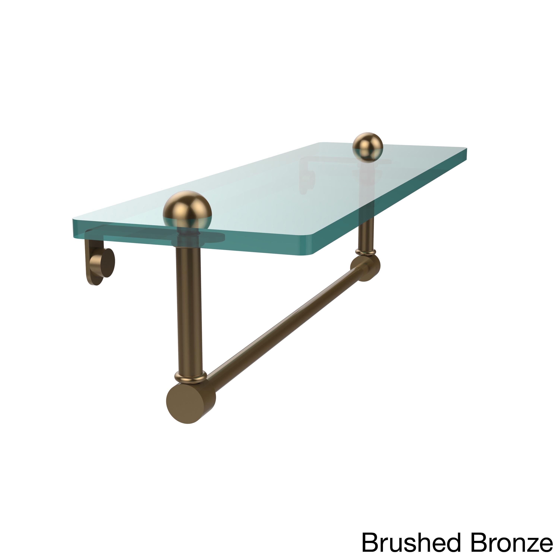Allied Brass 16-inch Glass Shelf with Towel Bar - Free Shipping ...
