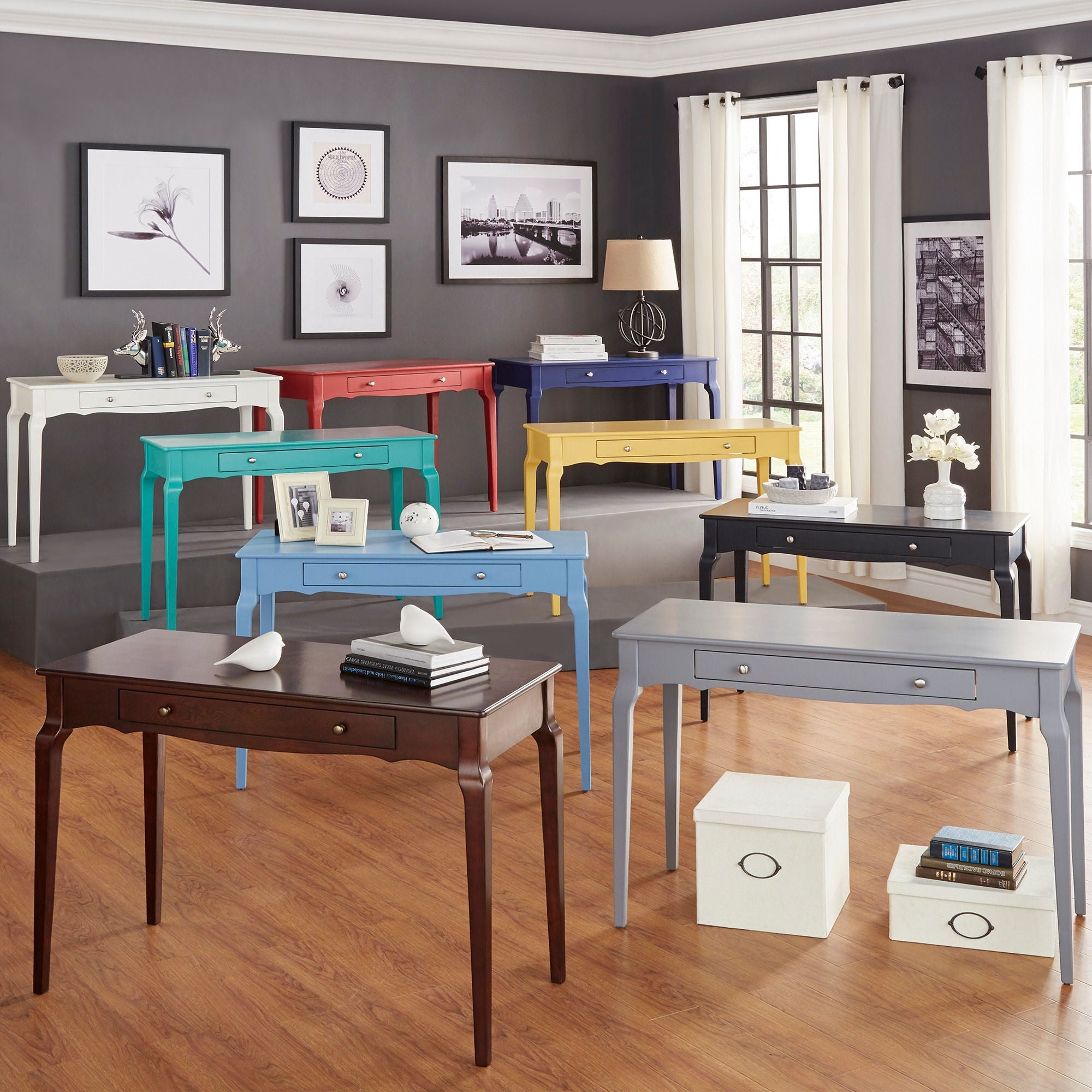 Daniella 1-drawer Wood Accent Office Writing Desk by iNSPIRE Q Bold - Free  Shipping Today - Overstock.com - 17089483
