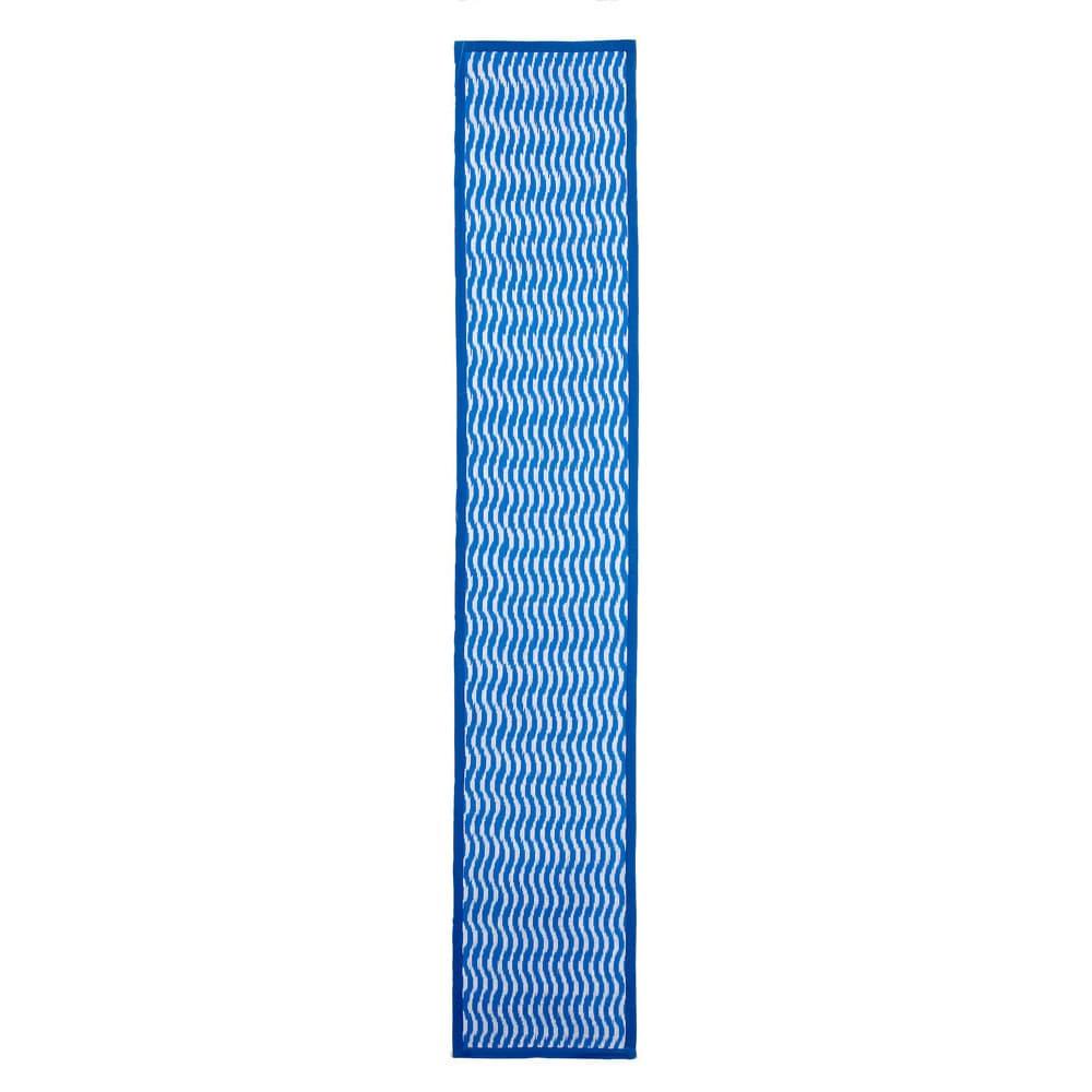 Shop Mela Artisans Cotton Blue Indo Runner Rug (1\'1 x 6\') - Free ...