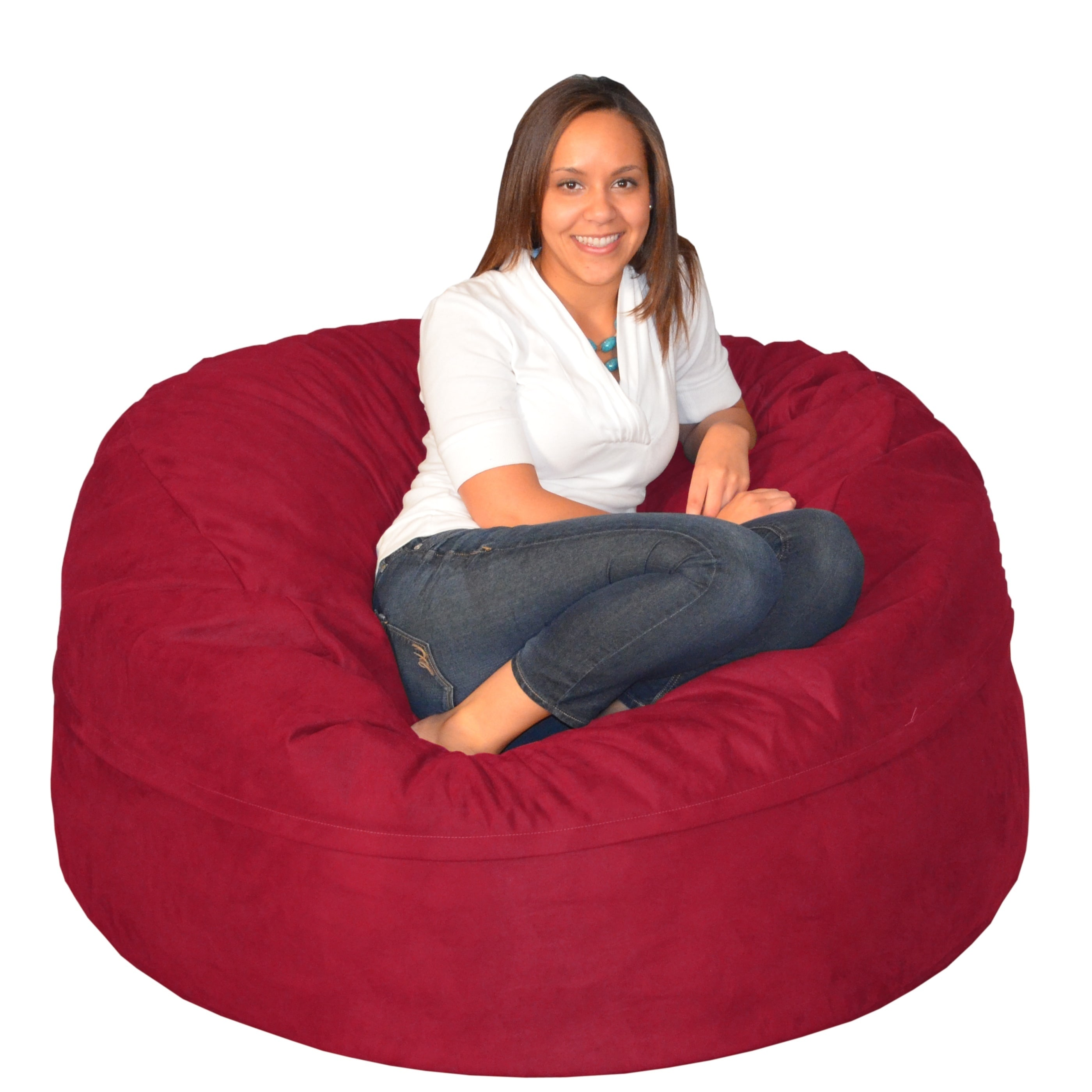 Large Memory Foam Bean Bag 5-foot Foam Chair - Free Shipping Today -  Overstock.com - 17092311