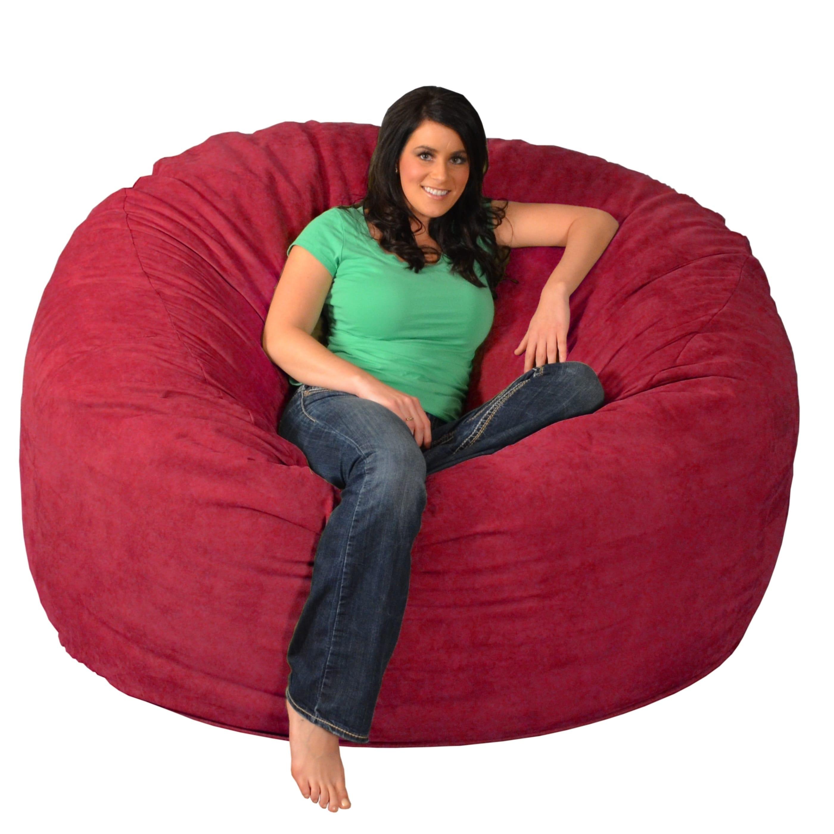 Beau Shop Giant Memory Foam Bean Bag 6 Foot Chair   Free Shipping Today    Overstock.com   9936912