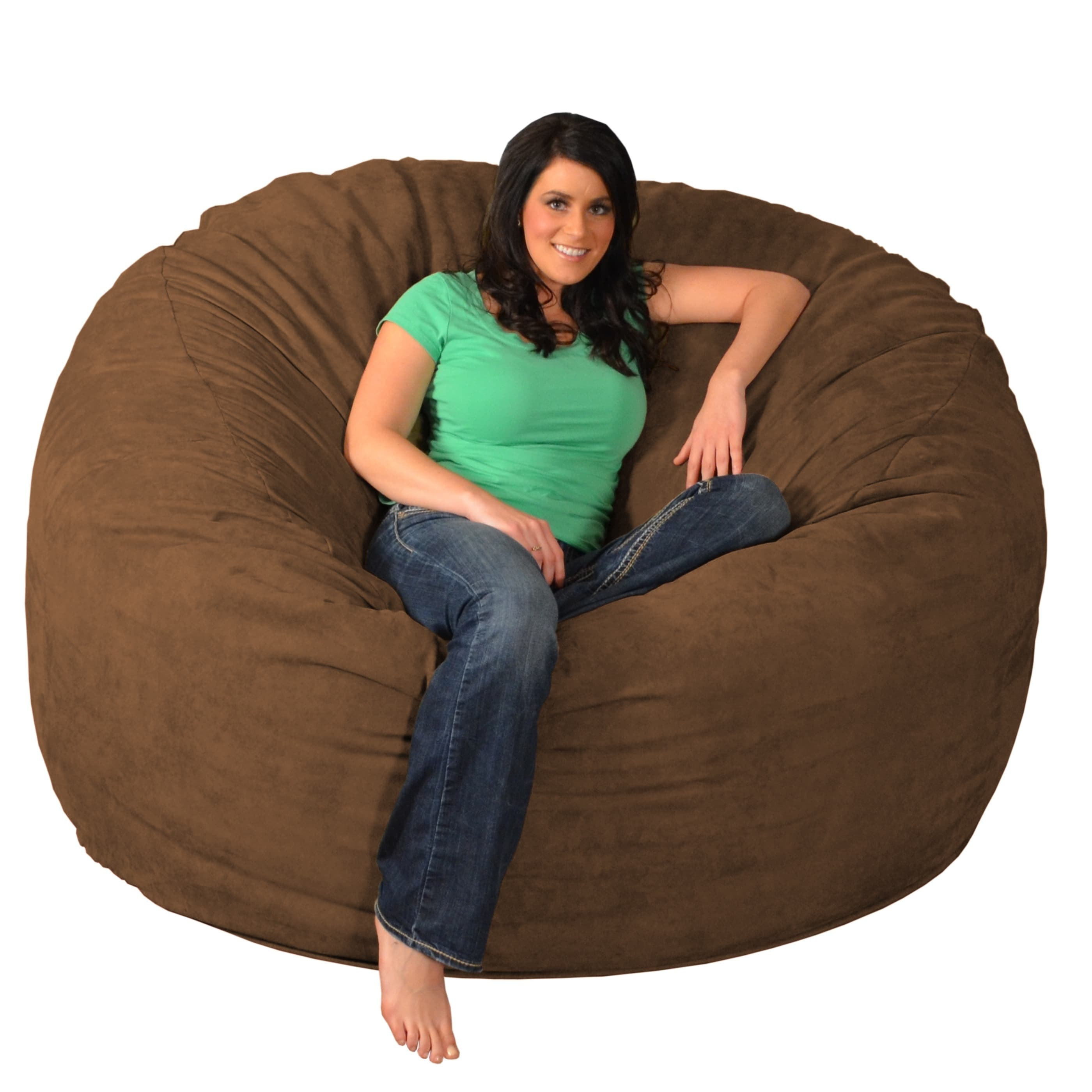Shop Giant Memory Foam Bean Bag 6 Foot Chair   Free Shipping Today    Overstock.com   9936912