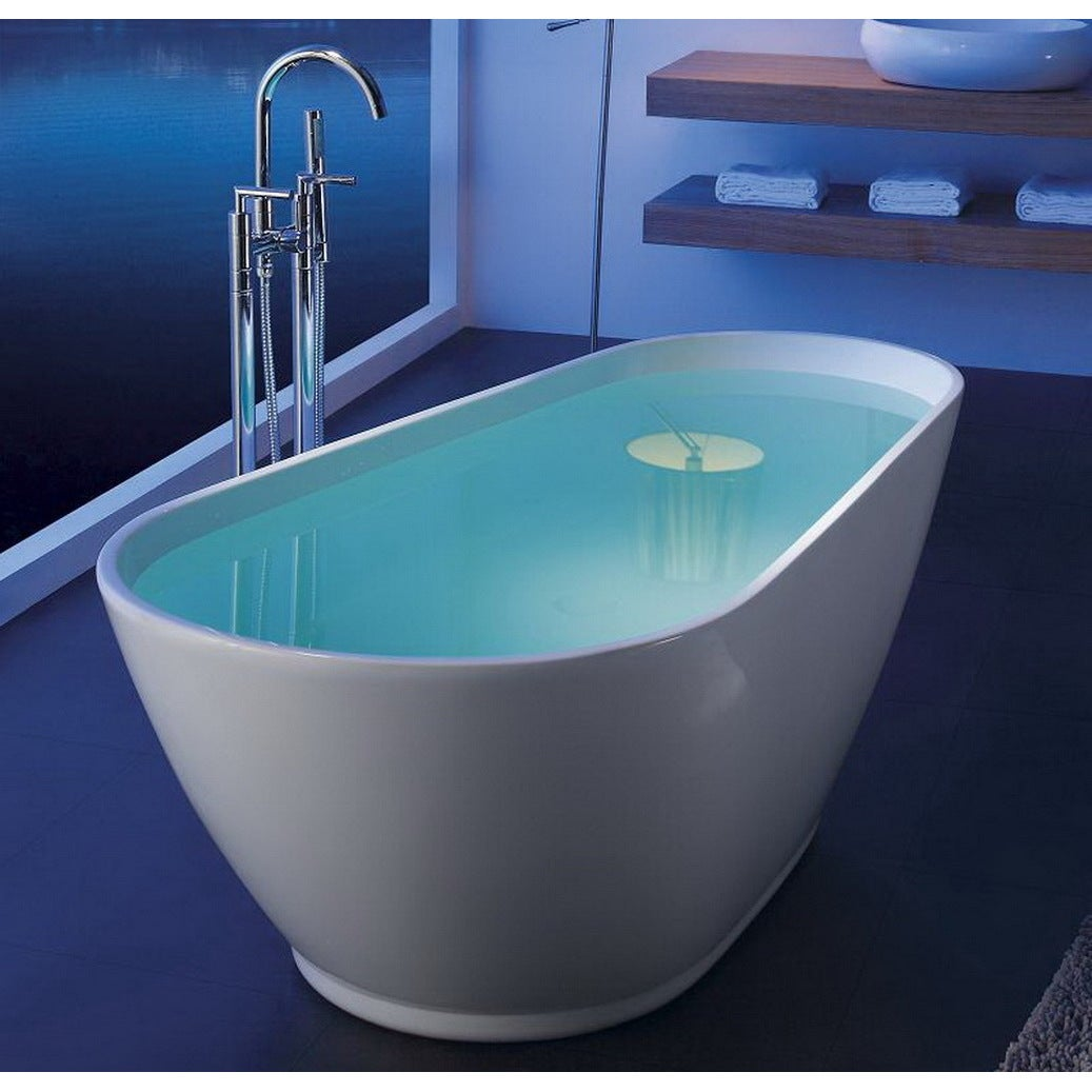 Shop Modern Slipper 69-inch Freestanding Acrylic Bathtub - Free ...