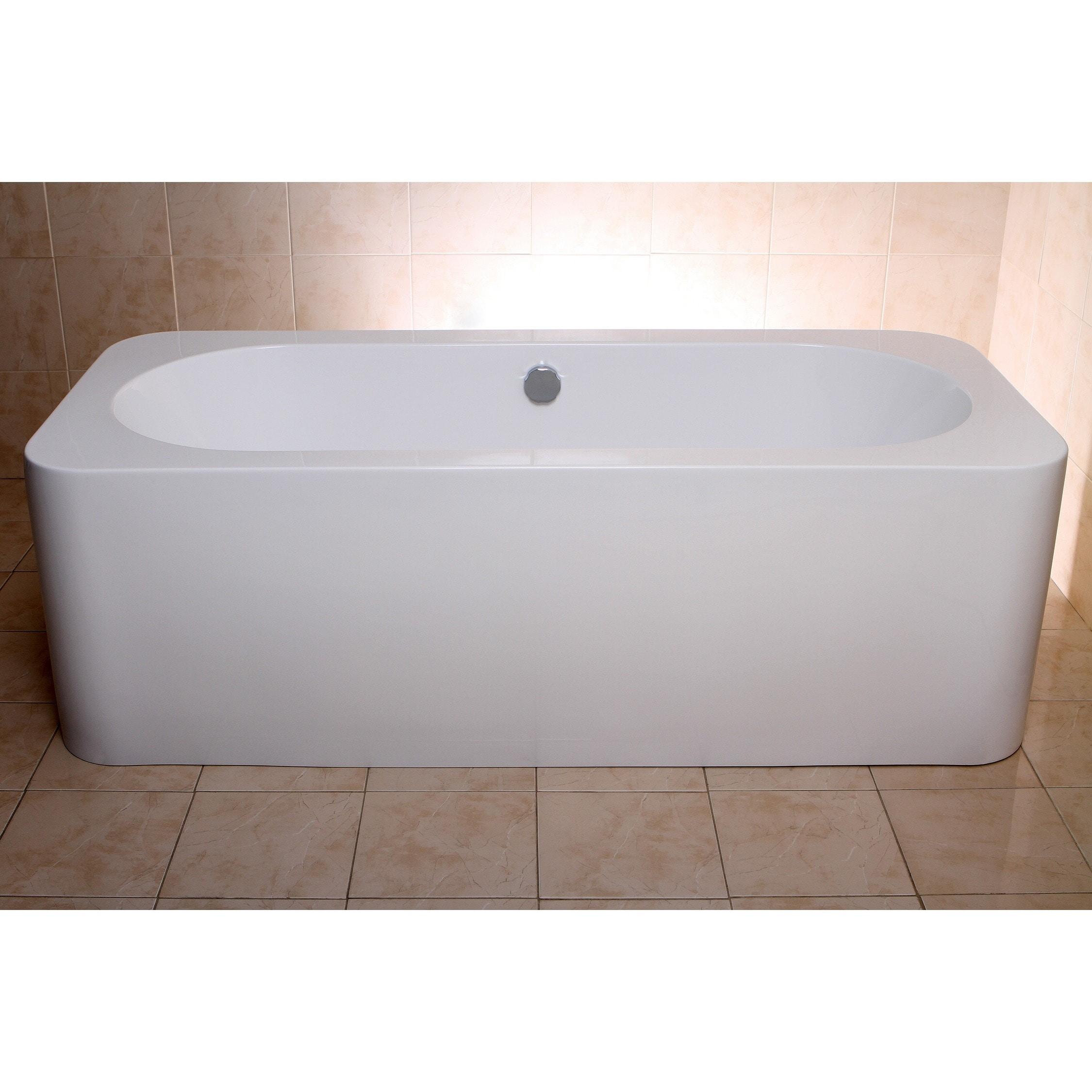 Shop Modern Rectangular 71-inch Freestanding Acrylic Bathtub - Free ...