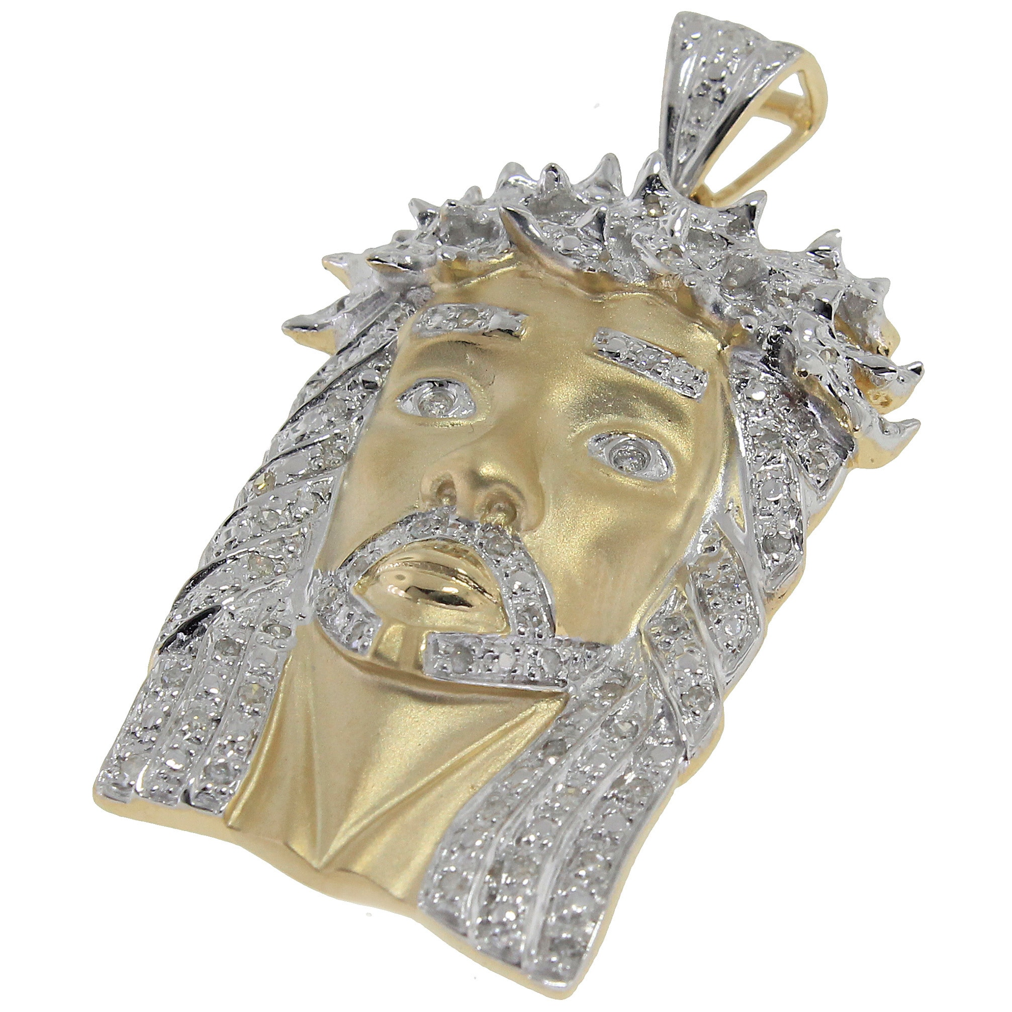 s johnny shadow custom pendant gold jesus diamond king