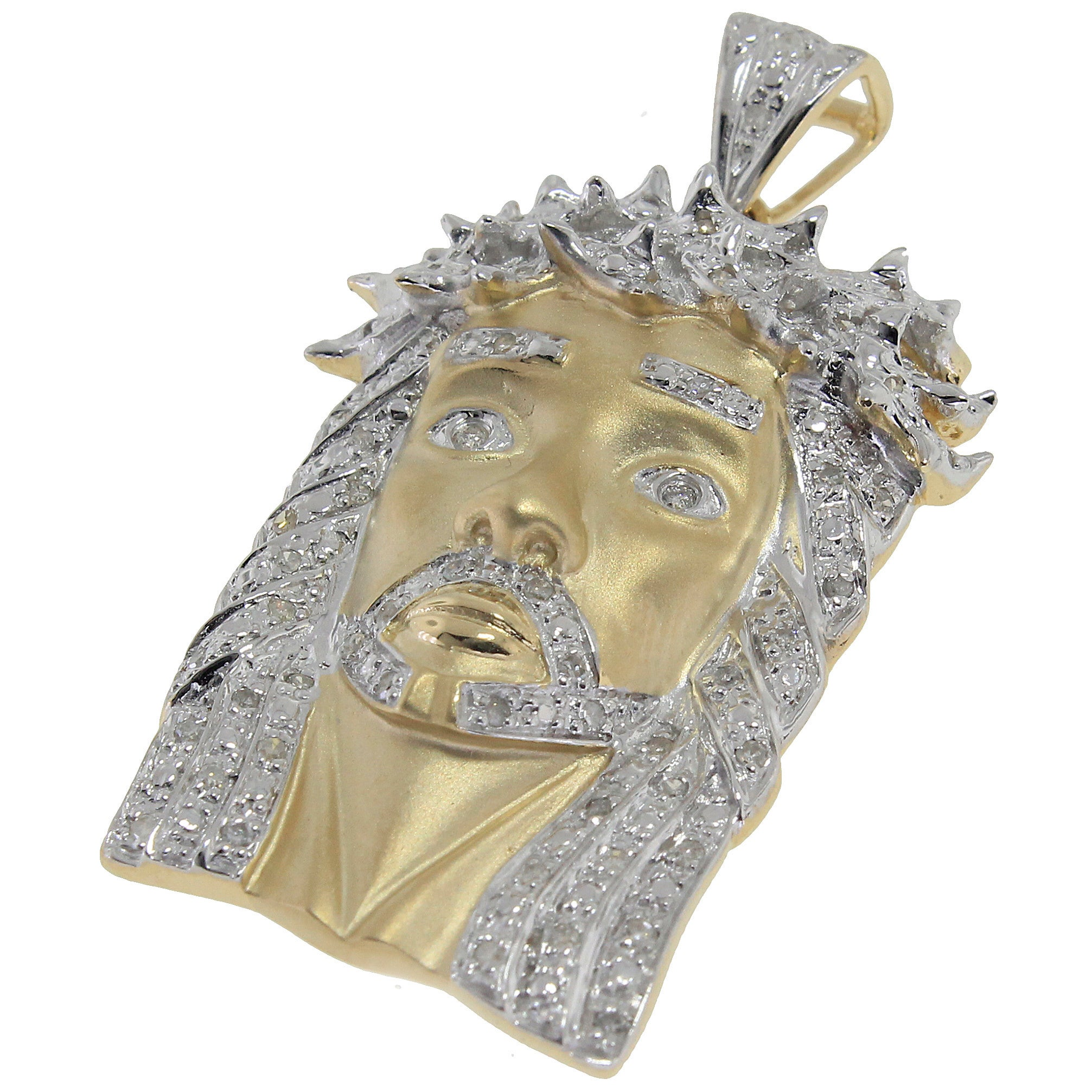 iced diamond piece out products crown jesus inch gold pendant box with mask ski chain