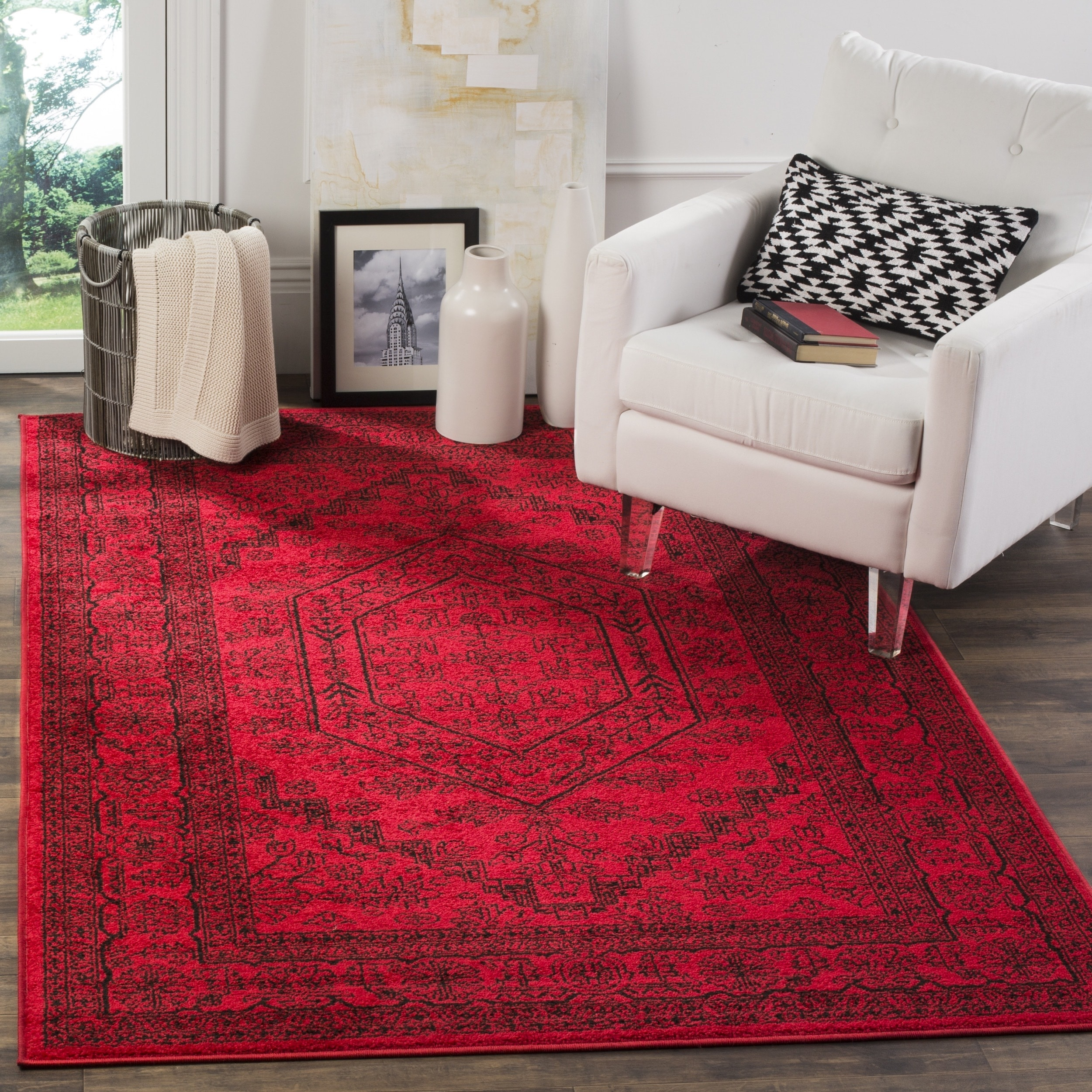 Shop Safavieh Adirondack Cheyenne Medallion Red/ Black Rug - 10\' x ...