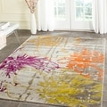 Safavieh Porcello Contemporary Floral Ivory/ Grey Rug (5'2 x 7'6)