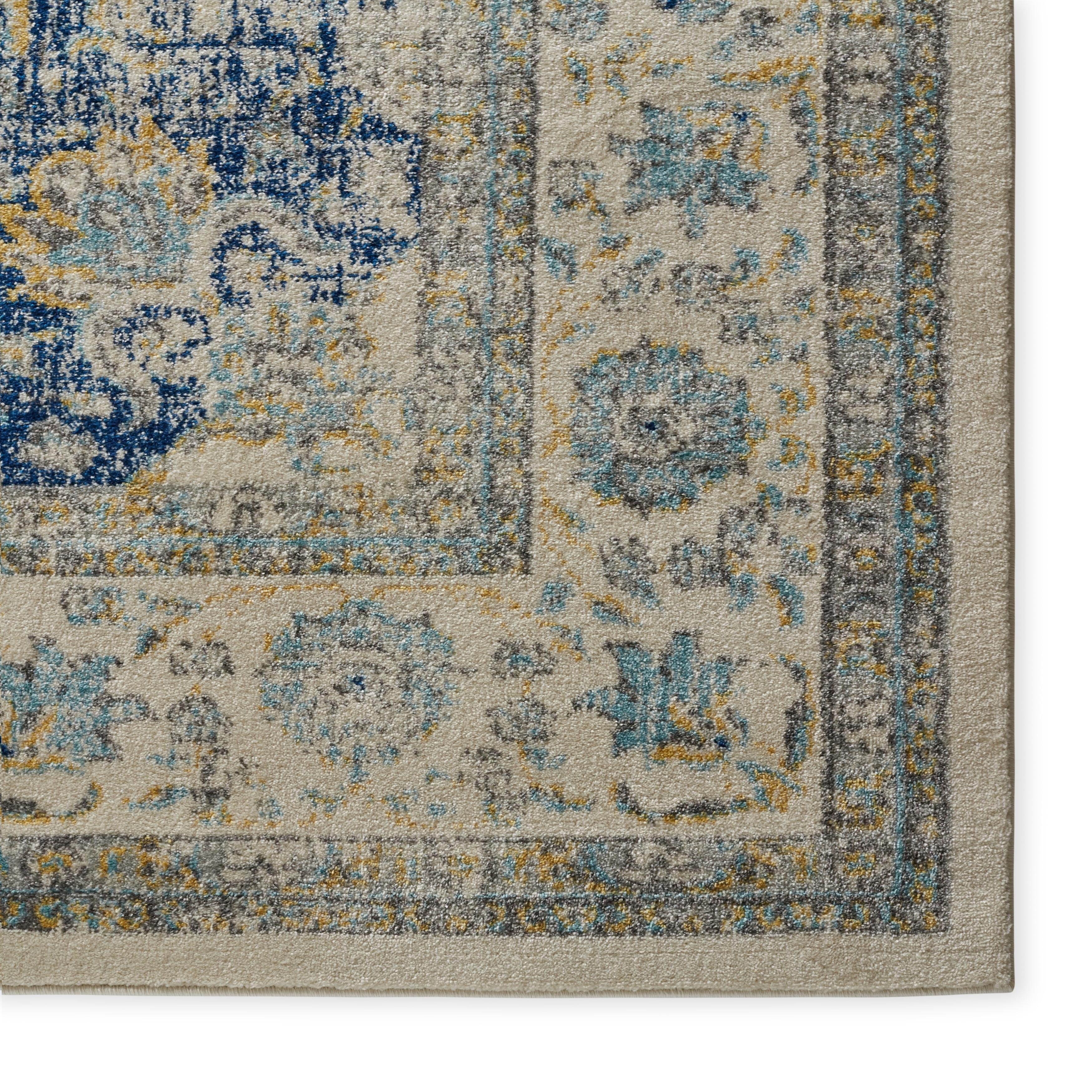 Safavieh Evoke Vintage Oriental Ivory Blue Distressed Rug 8 x