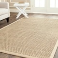 Safavieh Casual Natural Fiber Natural and Beige Border Seagrass Rug (10' x 14')