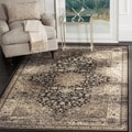 Safavieh Vintage Oriental Black/ Ivory Distressed Rug (6'7 Square)